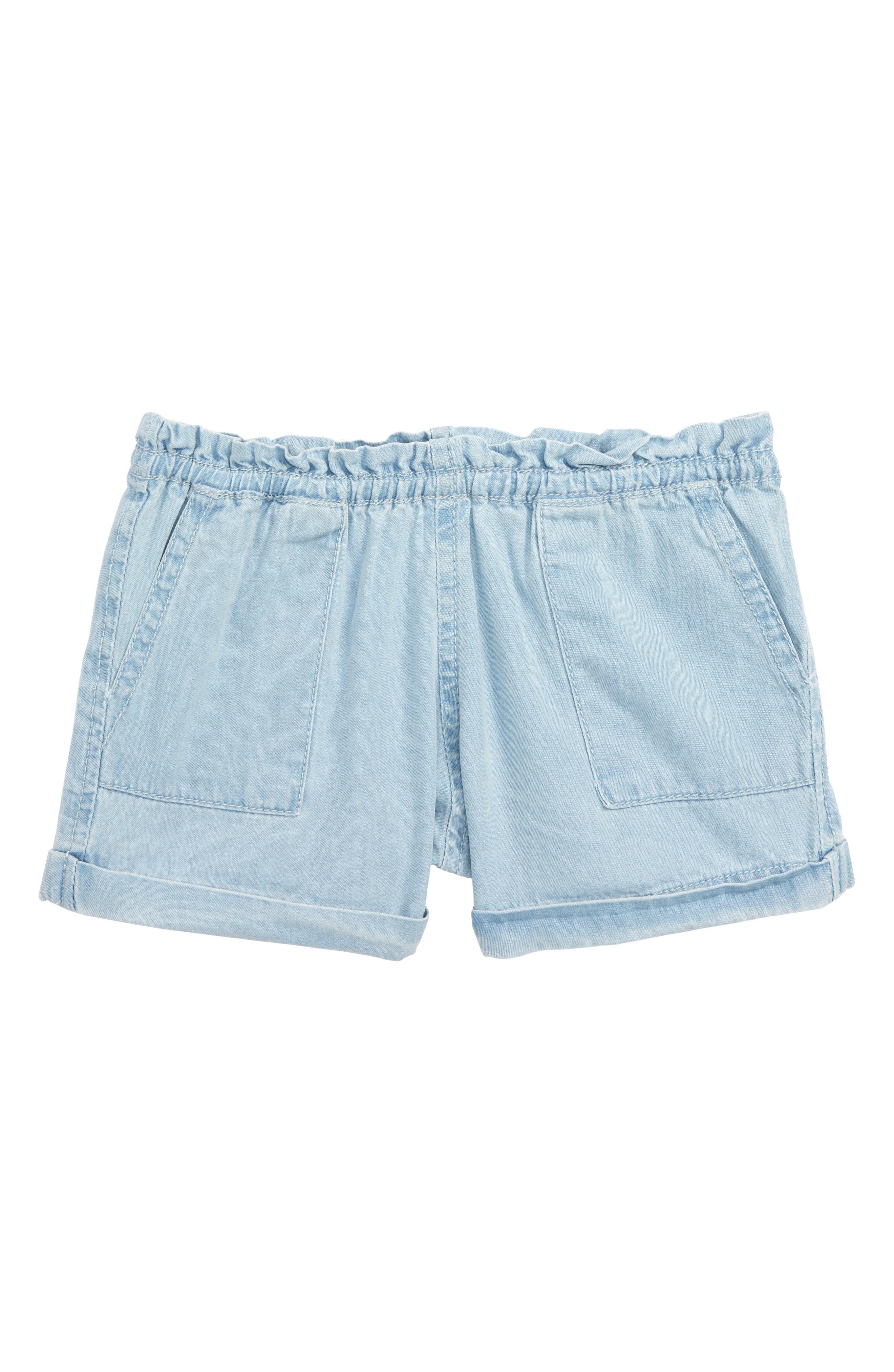 Jojo Chambray Shorts,                         Main,                         color, Chambray