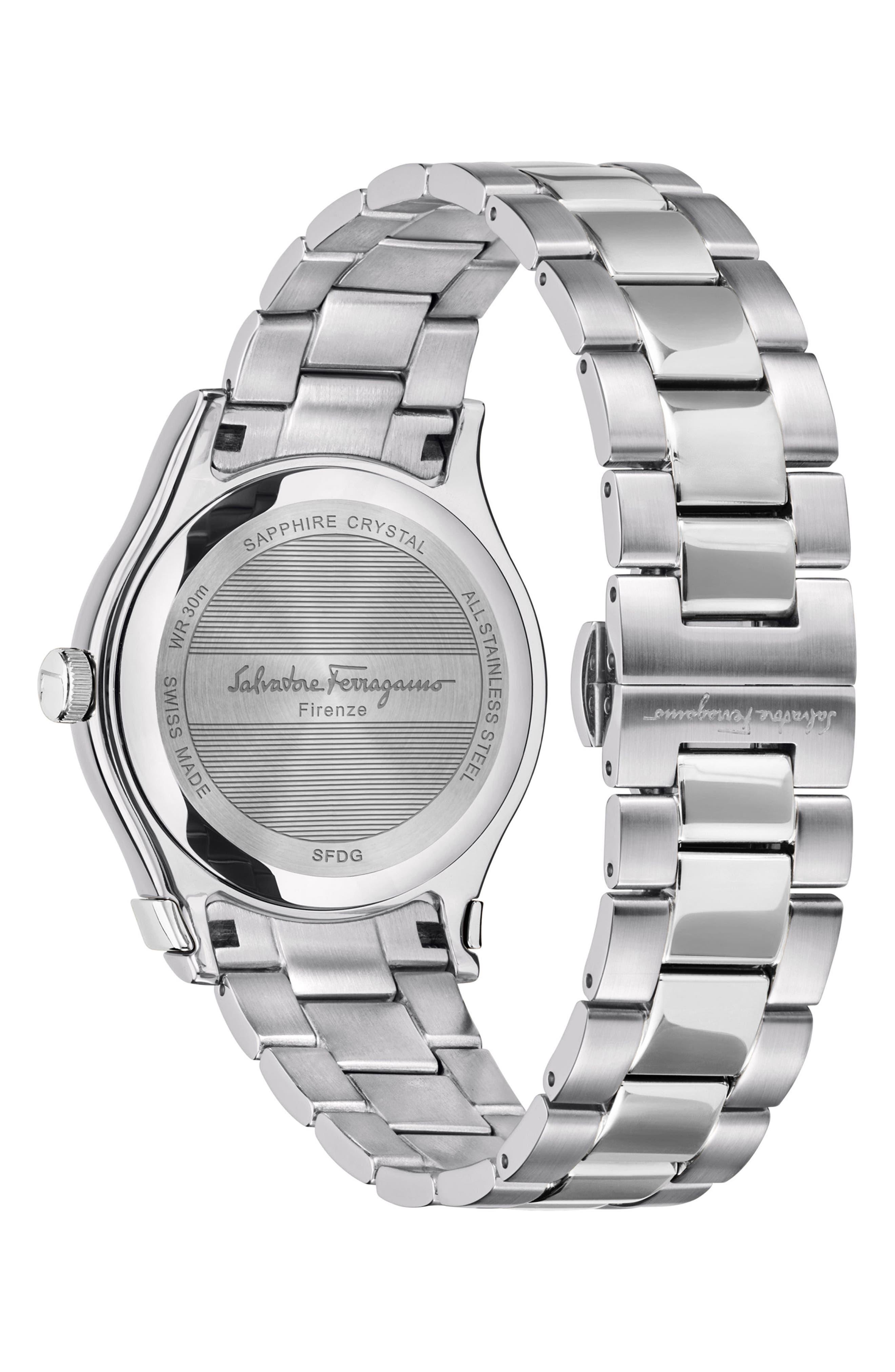 1898 Bracelet Watch, 40mm,                             Alternate thumbnail 2, color,                             Silver/ Blue/ Silver
