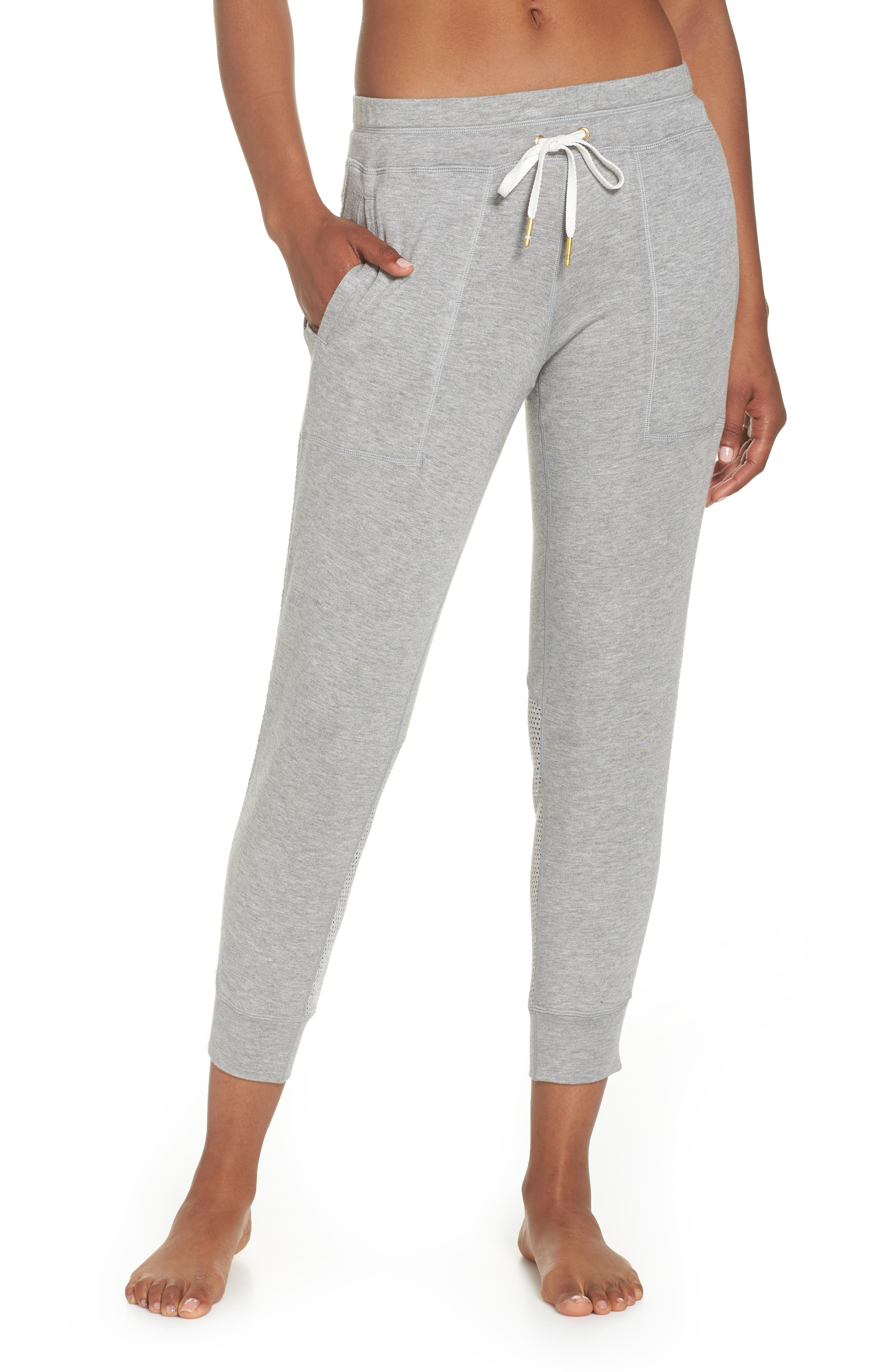 Heron Ankle Jogger Pants,                             Main thumbnail 1, color,                             Heather Grey
