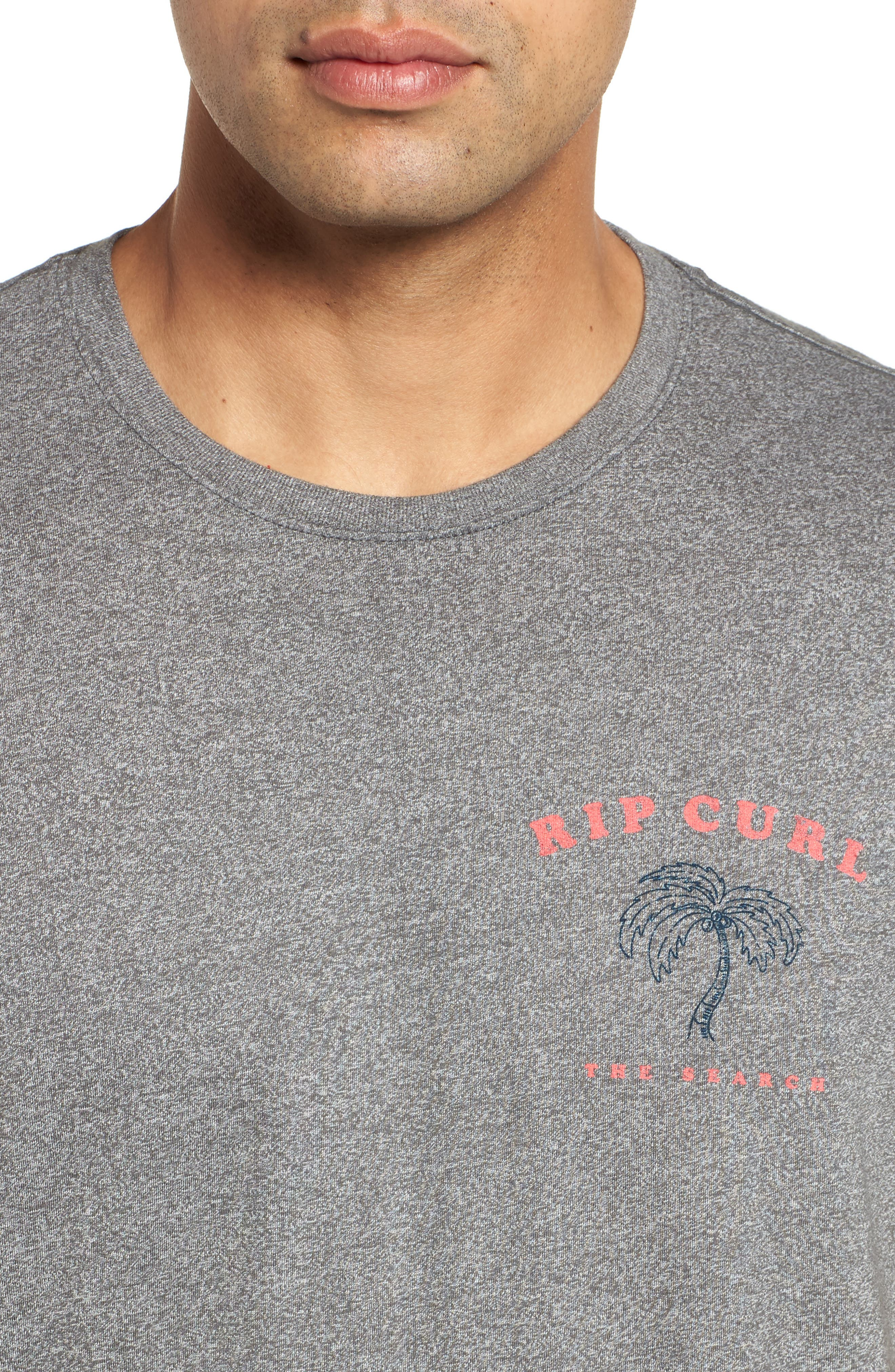 Beach Break Mock Twist T-Shirt,                             Alternate thumbnail 4, color,                             Platinum Heather