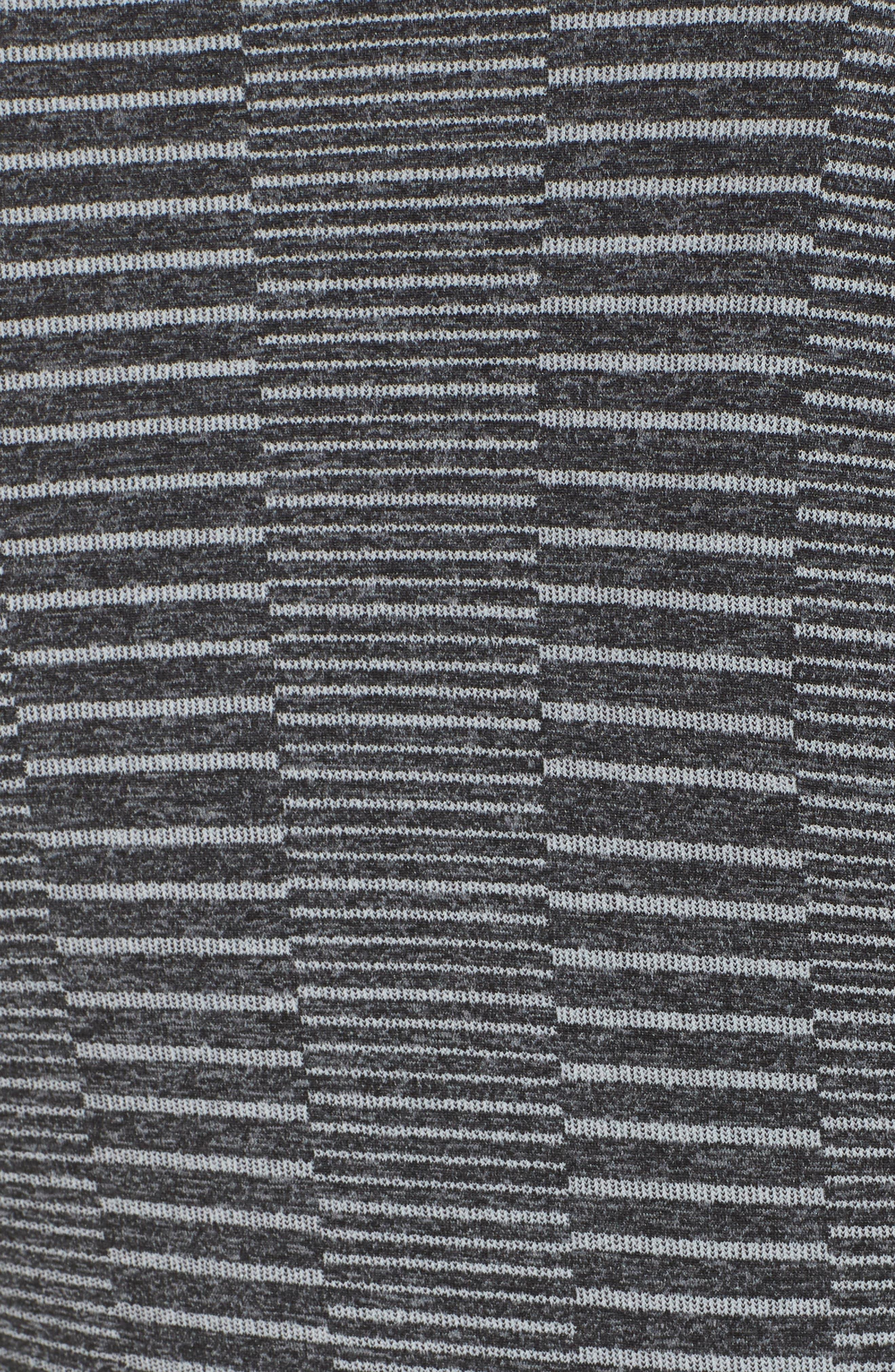 Vitality Quarter Zip Pullover,                             Alternate thumbnail 6, color,                             Blue Flower/ Black Melange