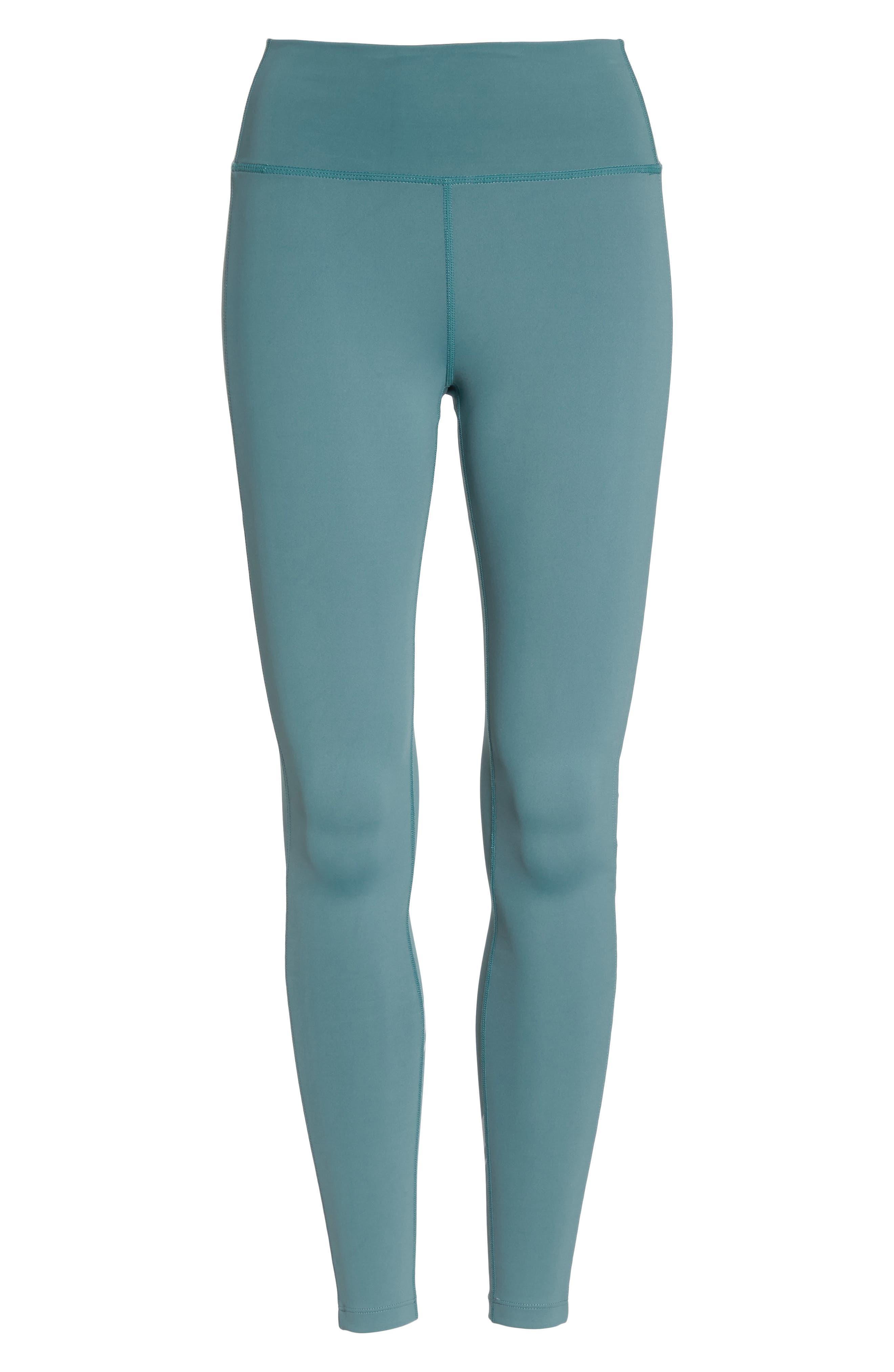Horizon Ankle Leggings,                             Alternate thumbnail 7, color,                             Blue Surf/ Off White