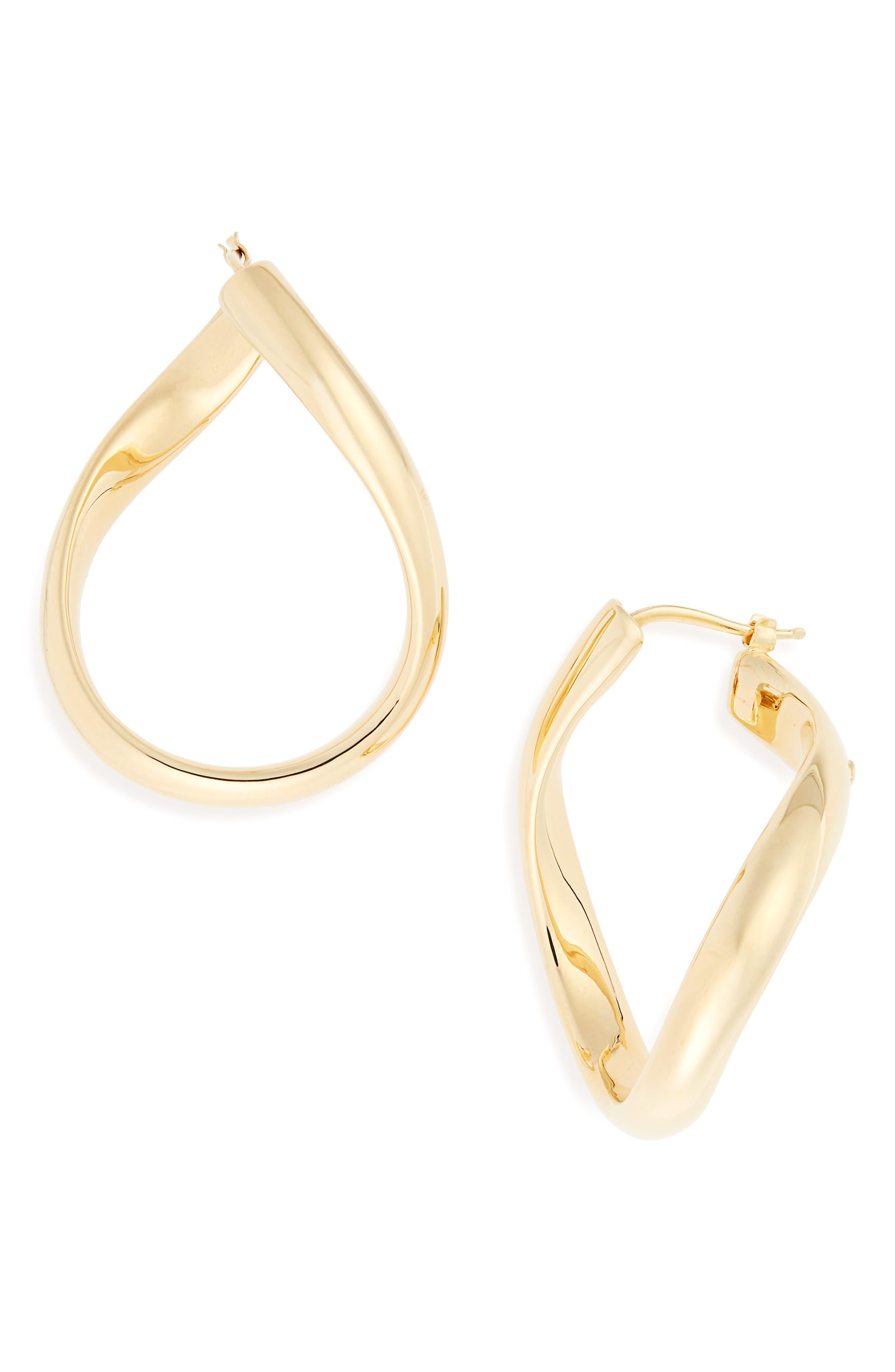 Classic Oro 18K Gold Hoop Earrings,                             Main thumbnail 1, color,                             Yellow Gold