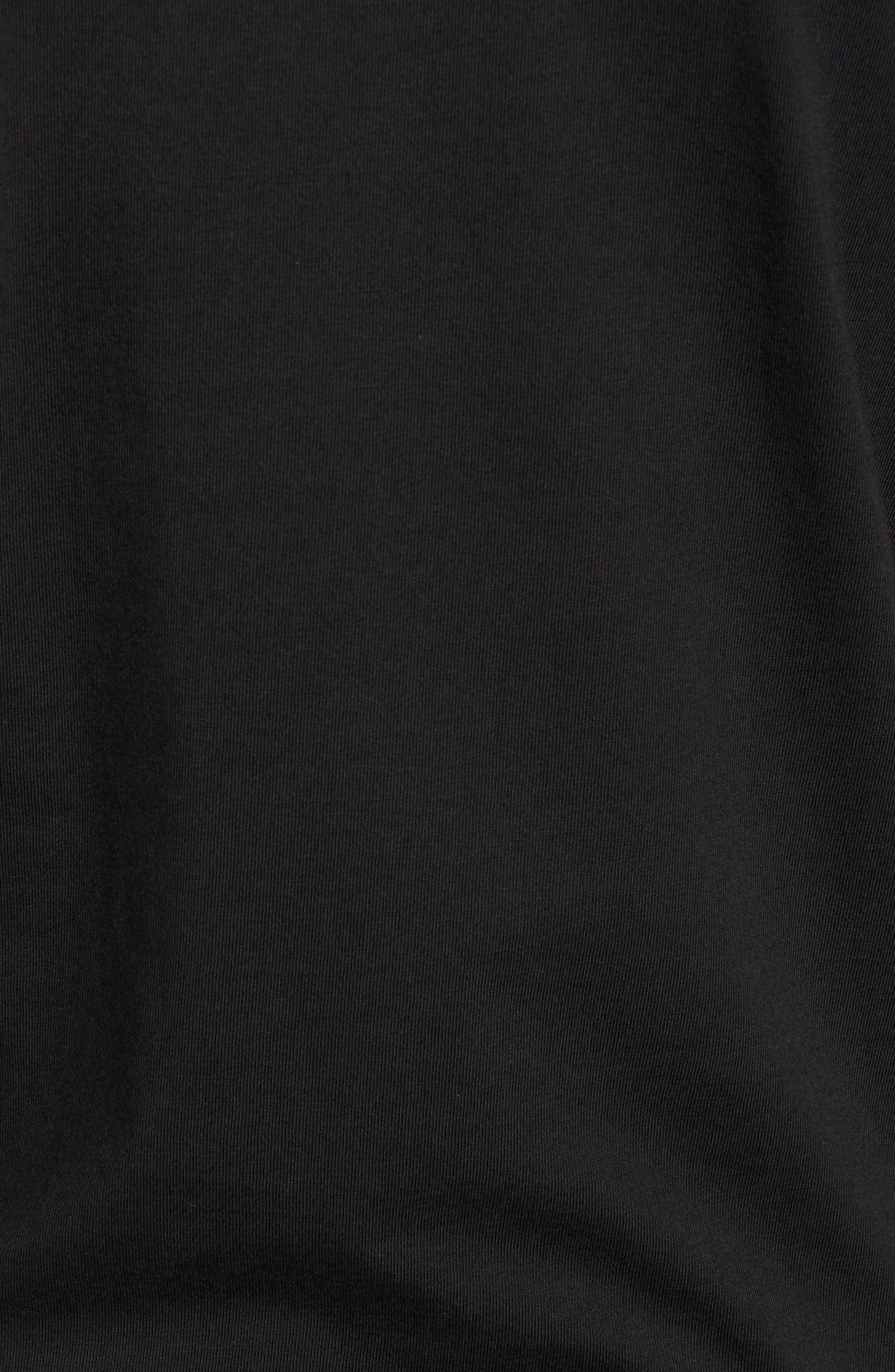 Threaded Classic T-Shirt,                             Alternate thumbnail 5, color,                             Black