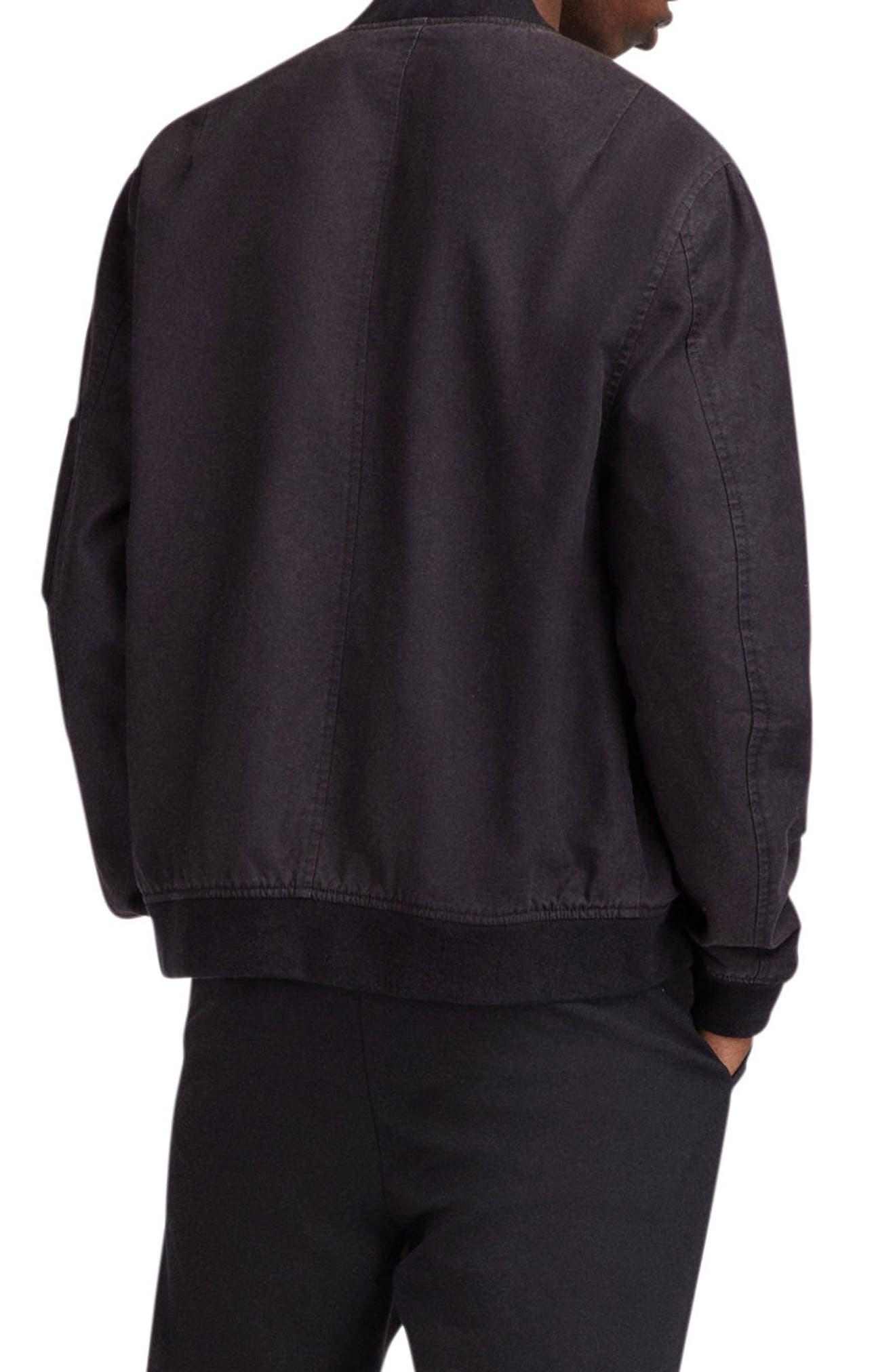 Moyne Bomber Jacket,                             Alternate thumbnail 5, color,                             Black