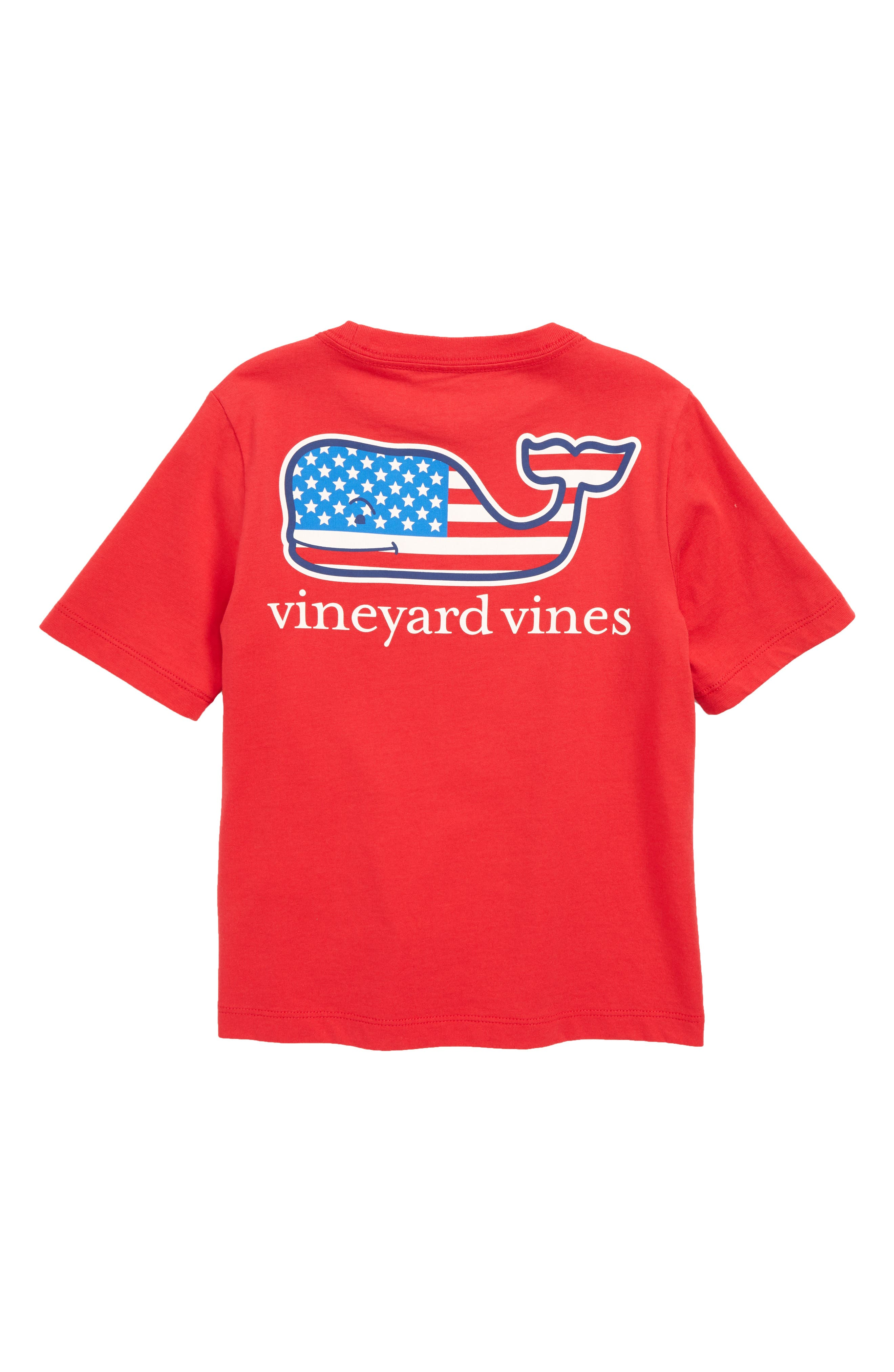 Flag Whale Pocket T-Shirt,                             Alternate thumbnail 2, color,                             Lighthouse Red