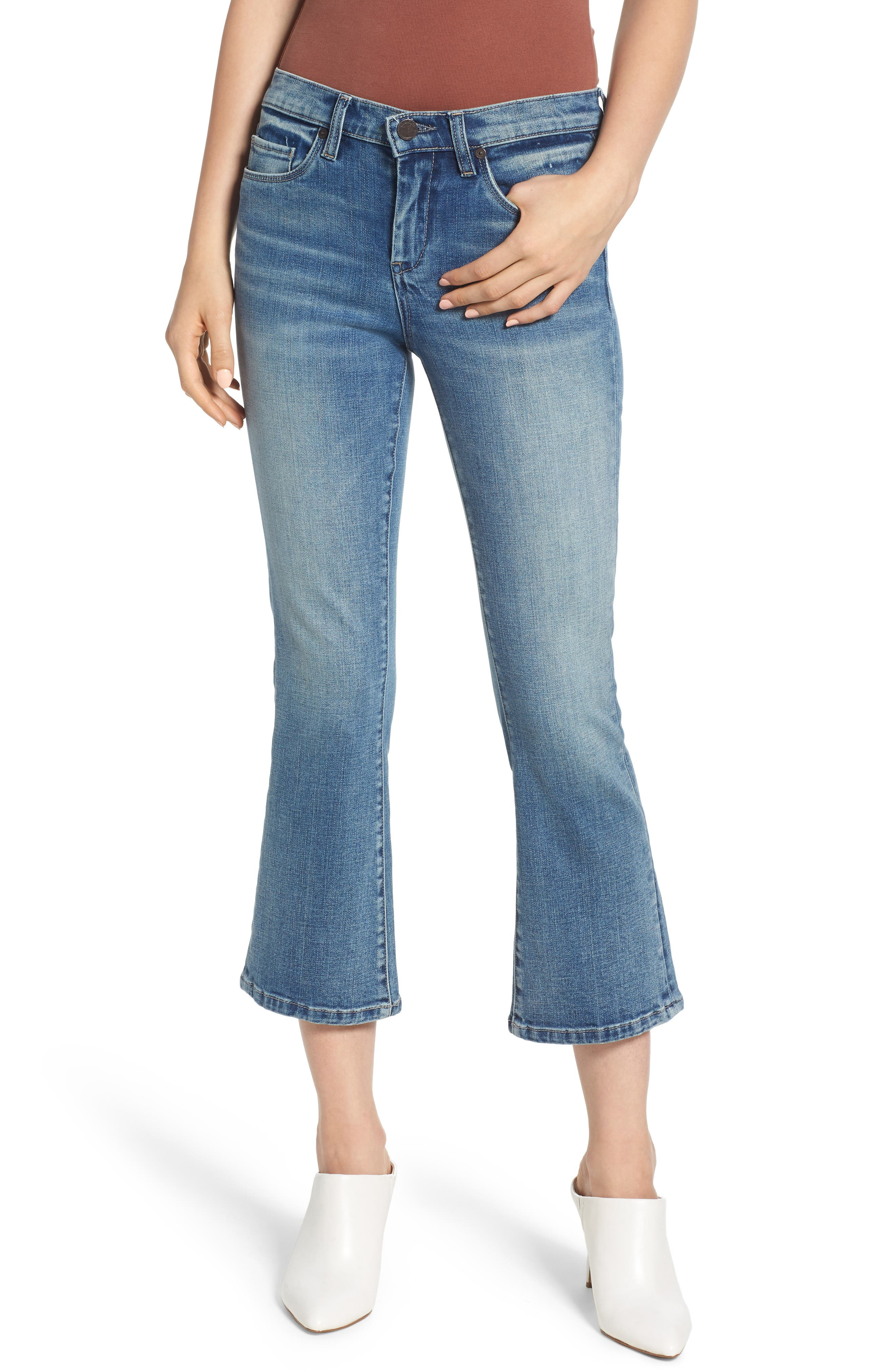 THE VARICK CROP FLARE JEANS