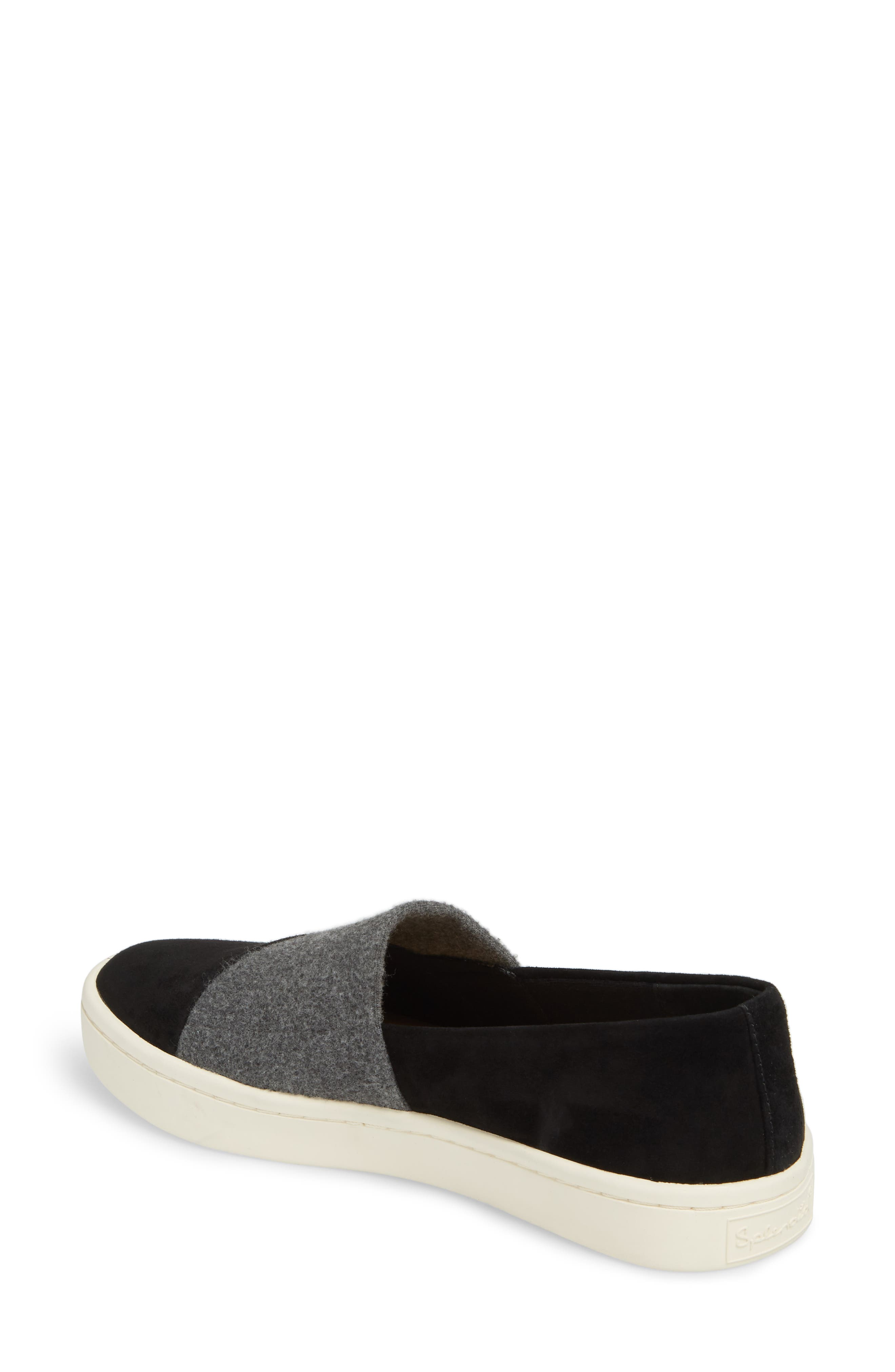 Nouvel Slip-On Sneaker,                             Alternate thumbnail 2, color,                             Black/ Grey Suede