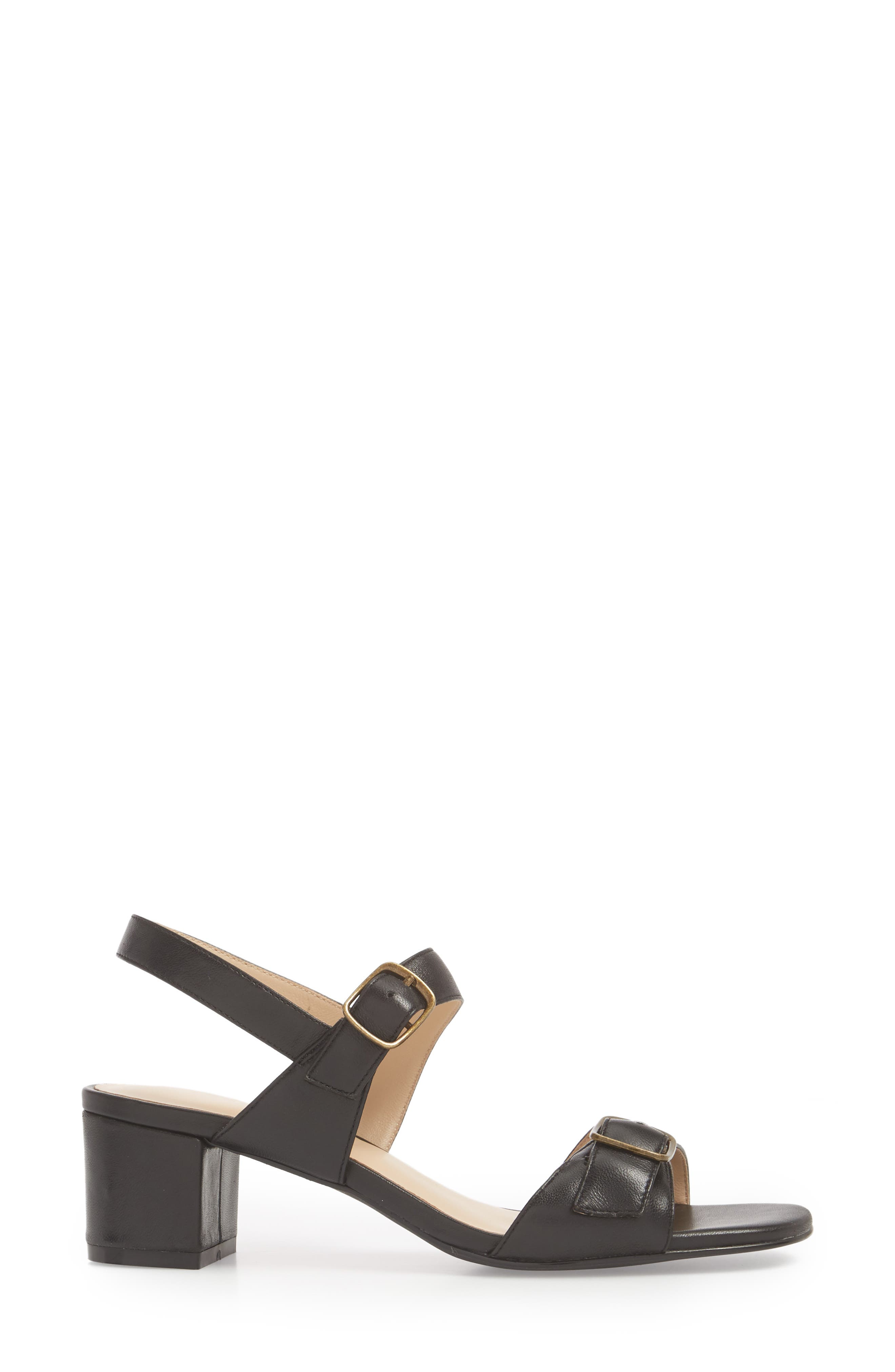 Caroline Sandal,                             Alternate thumbnail 3, color,                             Black