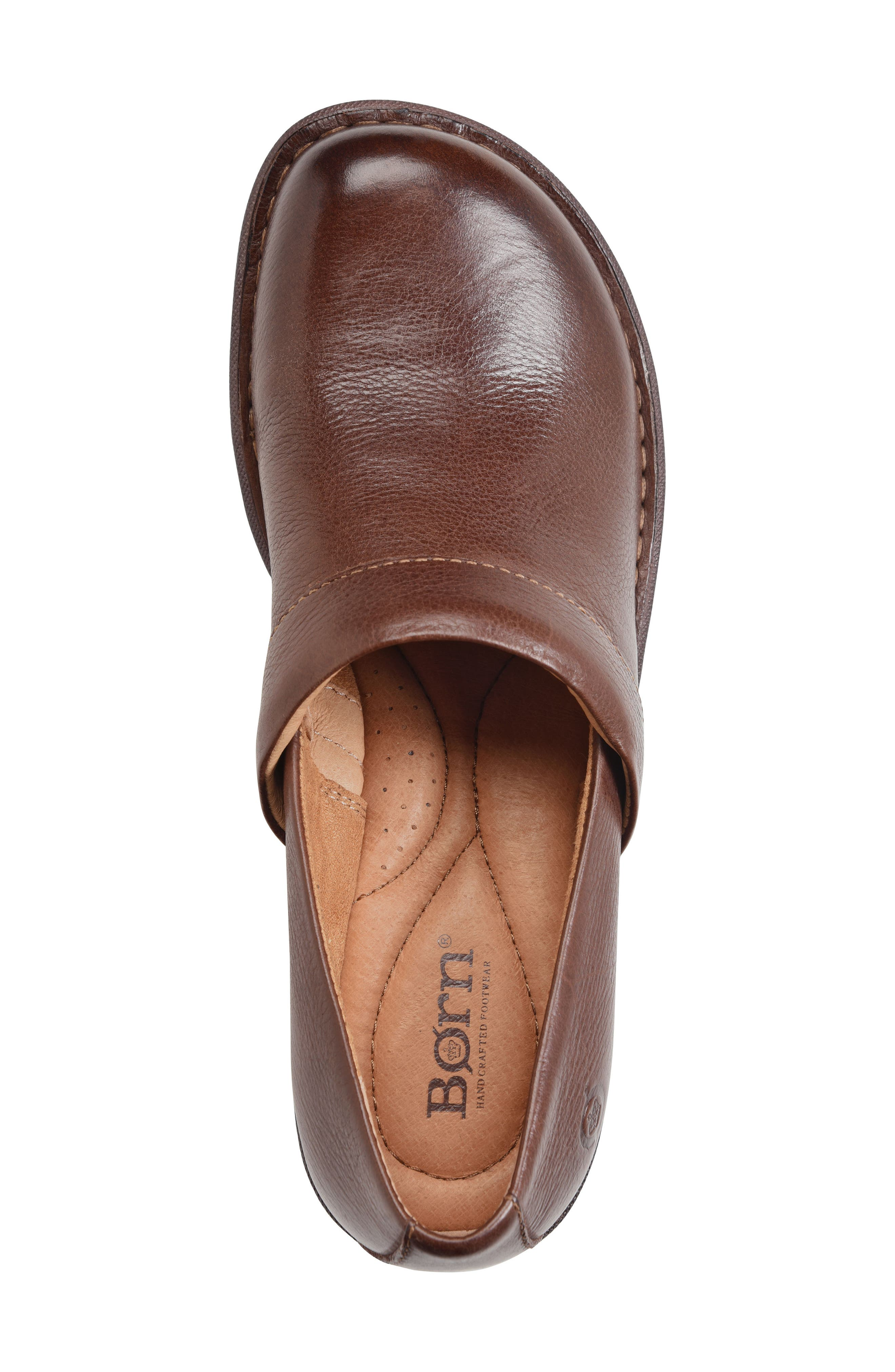 Toby Duo Clog,                             Alternate thumbnail 5, color,                             Chocolate Leather