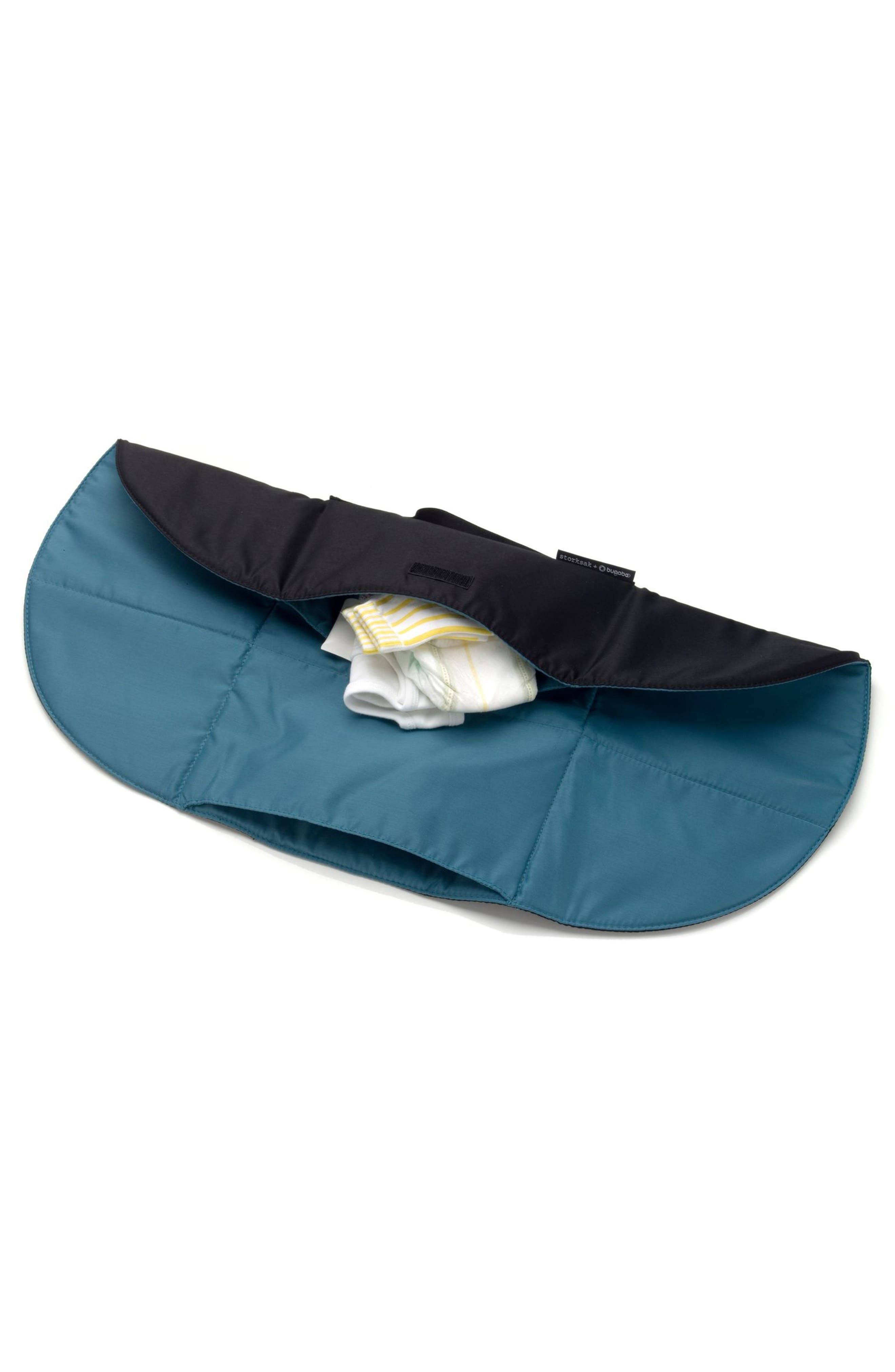 x Storksak Leather Diaper Tote Bag,                             Alternate thumbnail 2, color,                             Black