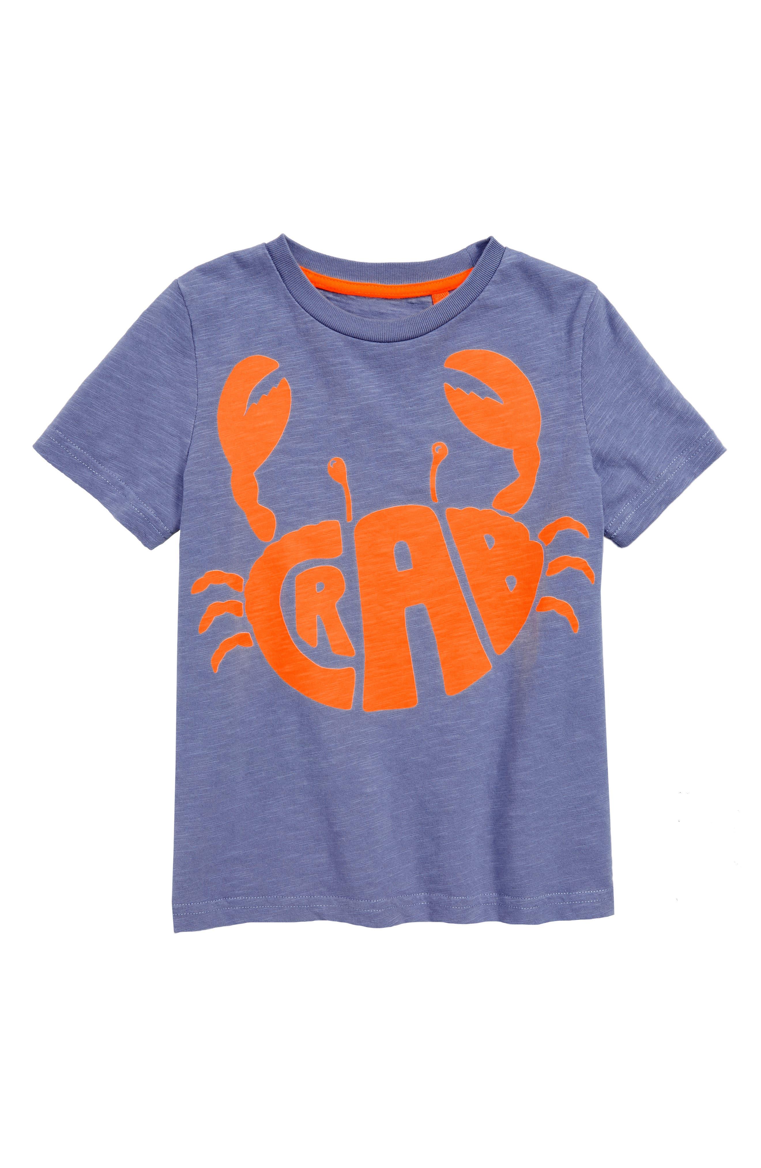Fluoro Crab T-Shirt,                             Main thumbnail 1, color,                             Hook Blue Crab