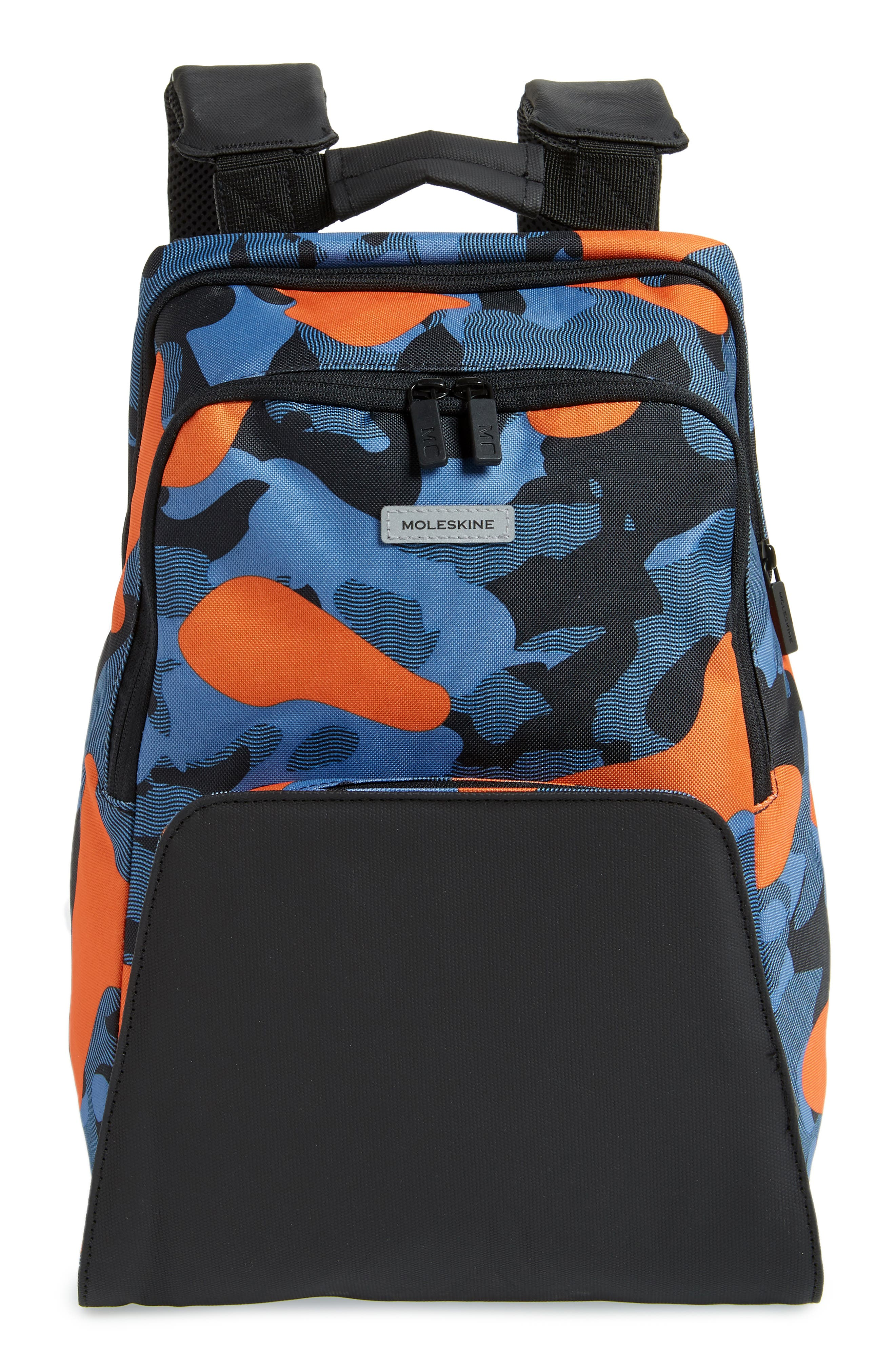 Nomad Water Resistant Backpack,                         Main,                         color, Camo Contrast Blue