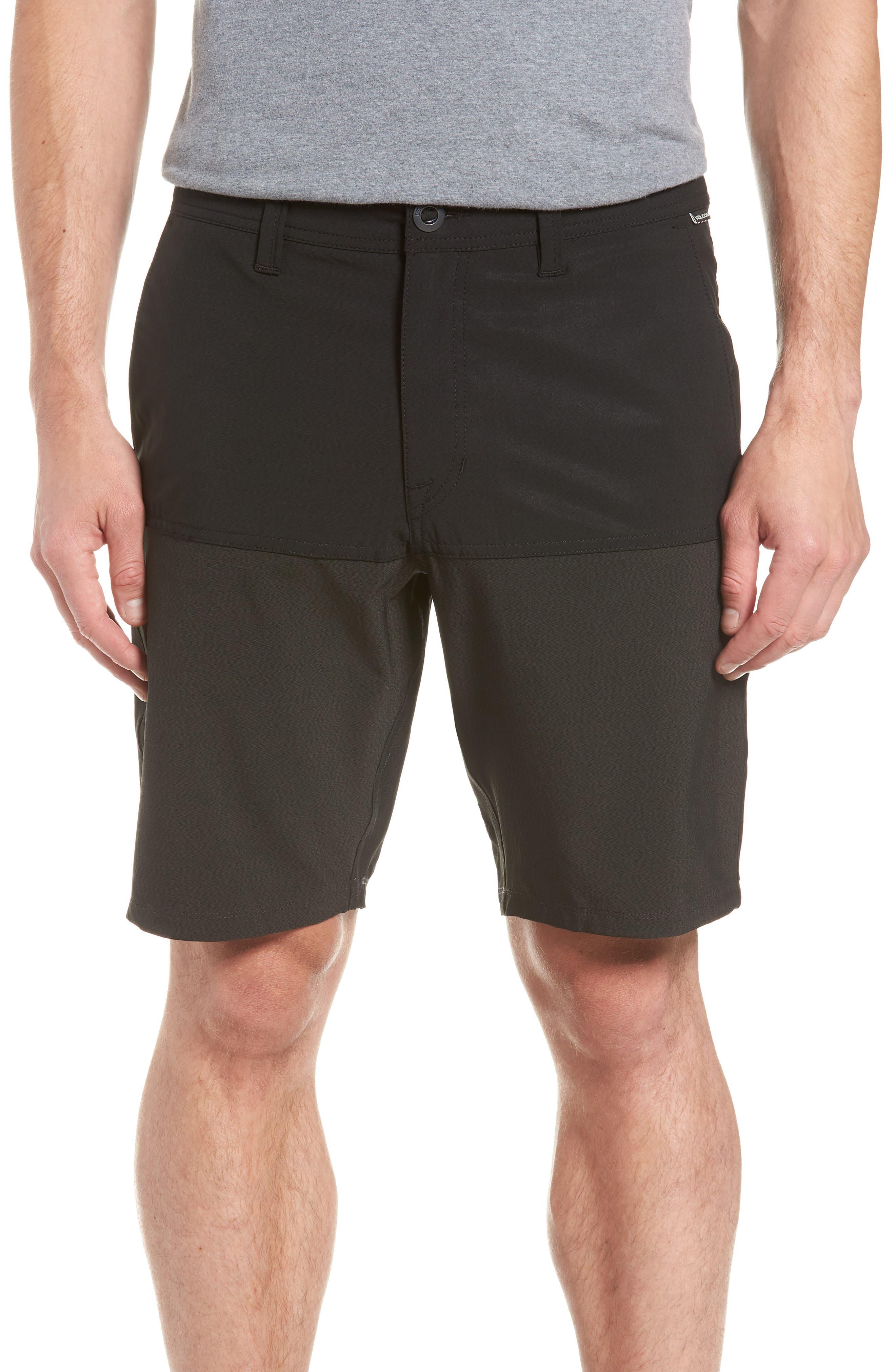 Surf 'n Turf Block Hybrid Shorts,                             Main thumbnail 1, color,                             Black