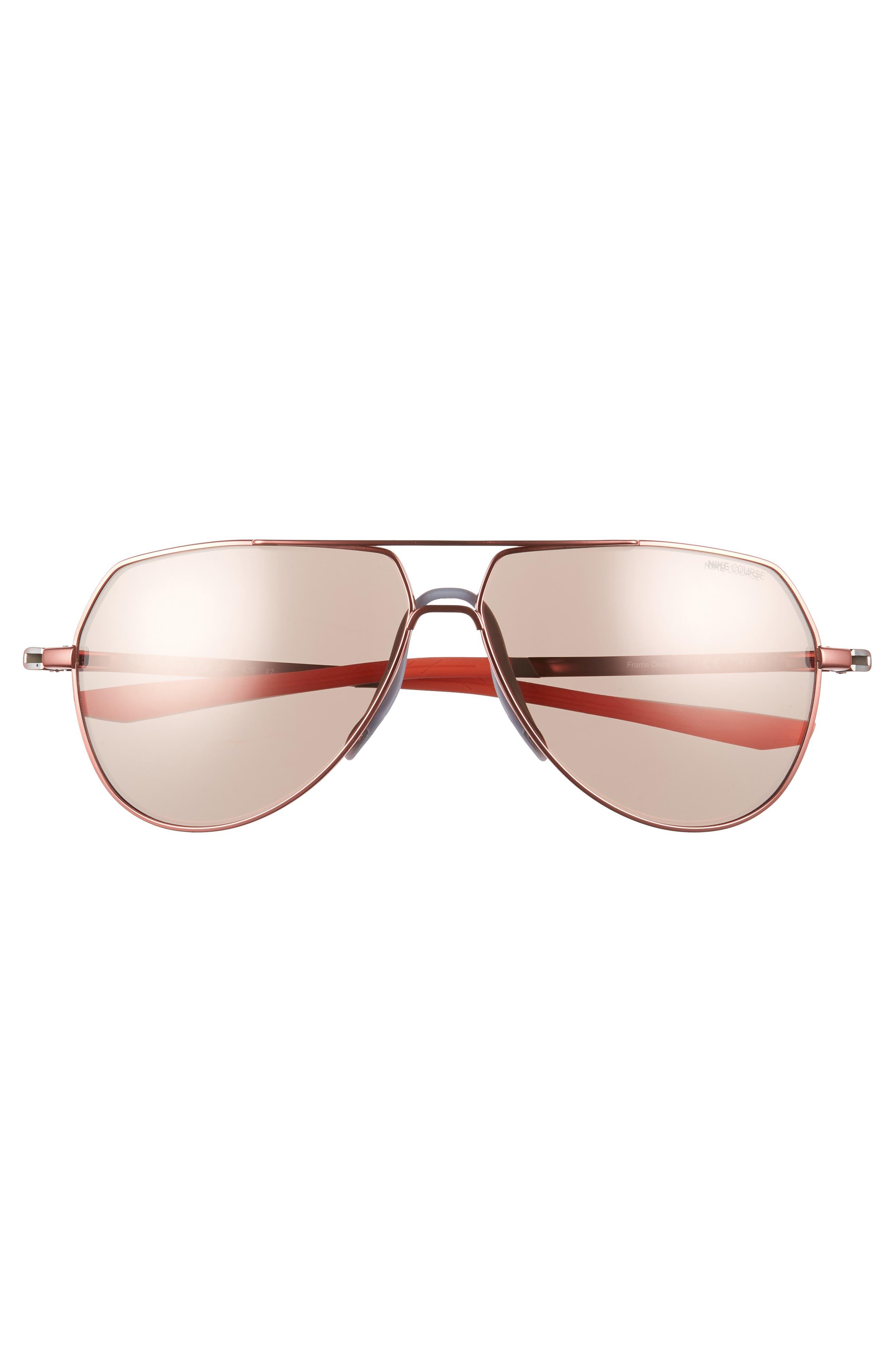 Outrider E 62mm Oversize Aviator Sunglasses,                             Alternate thumbnail 2, color,                             Total Crimson/ Golf