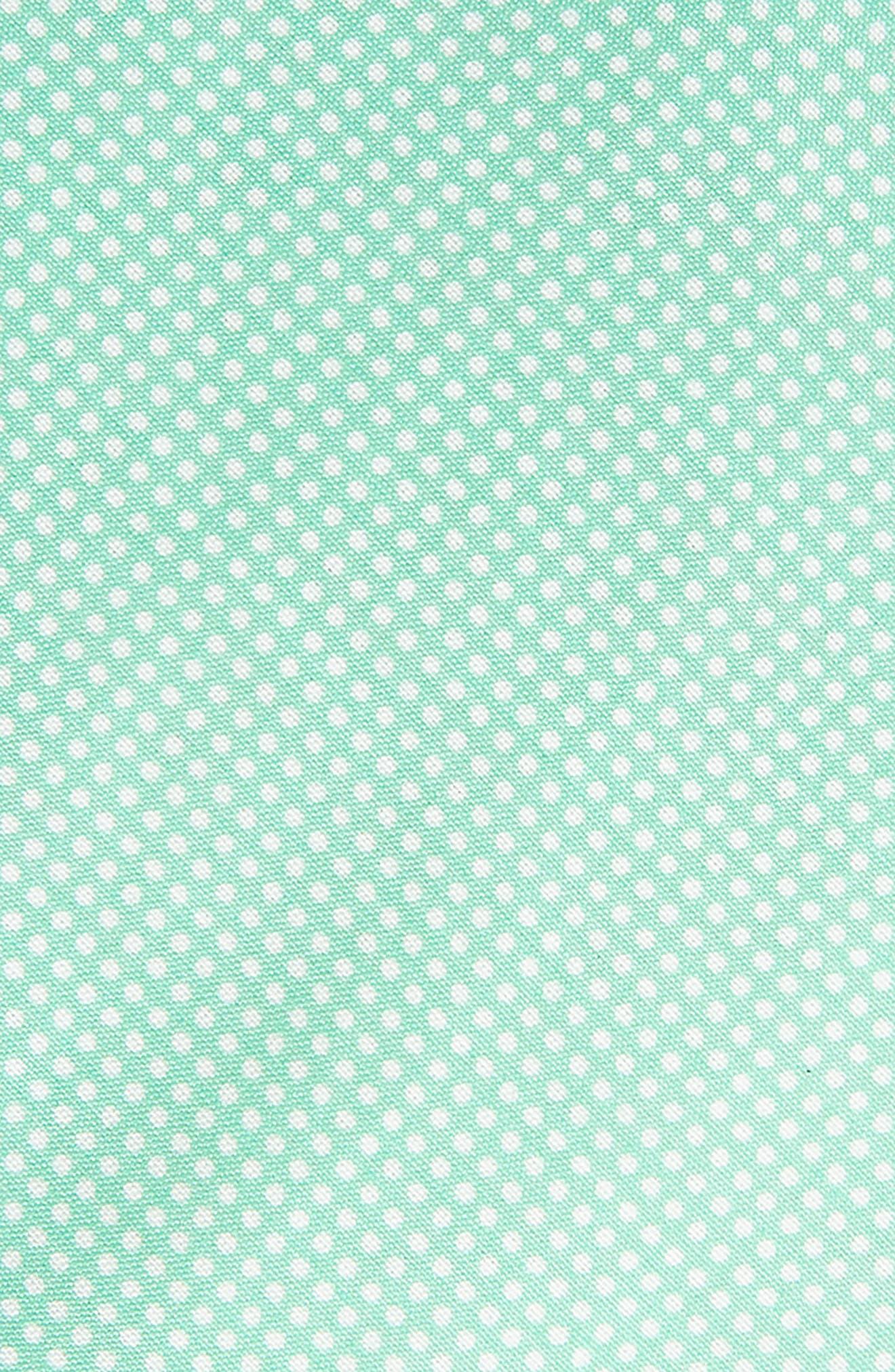 Dapper Dots Cotton & Silk Tie,                             Alternate thumbnail 2, color,                             Green