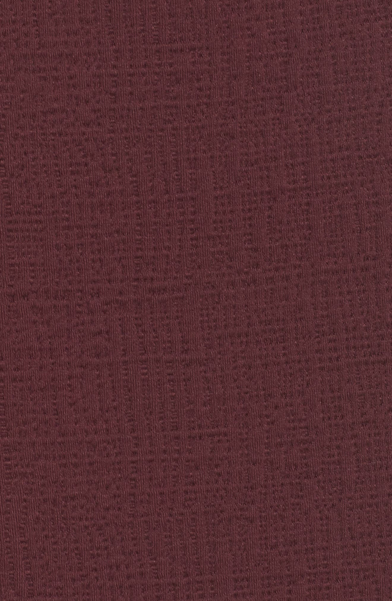 Jacquard Sheath Dress,                             Alternate thumbnail 6, color,                             Fig
