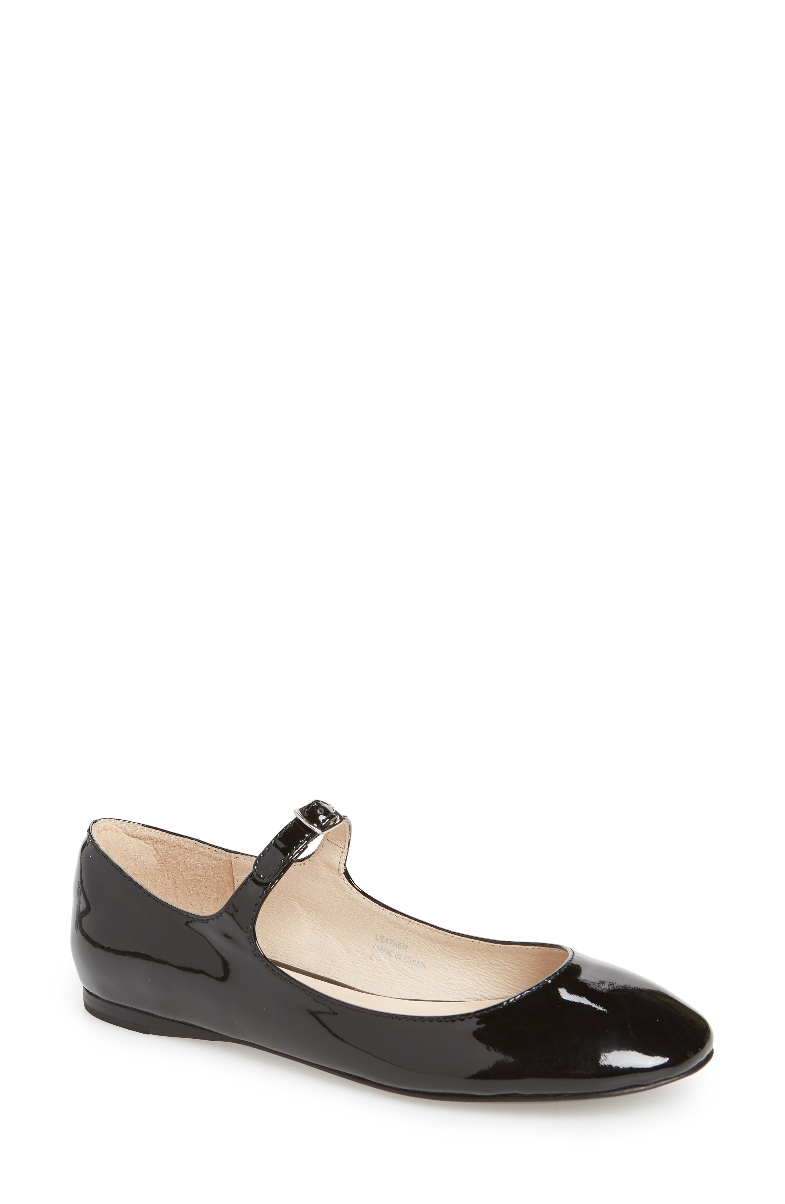 Marcy Mary Jane Flat,                         Main,                         color, Black
