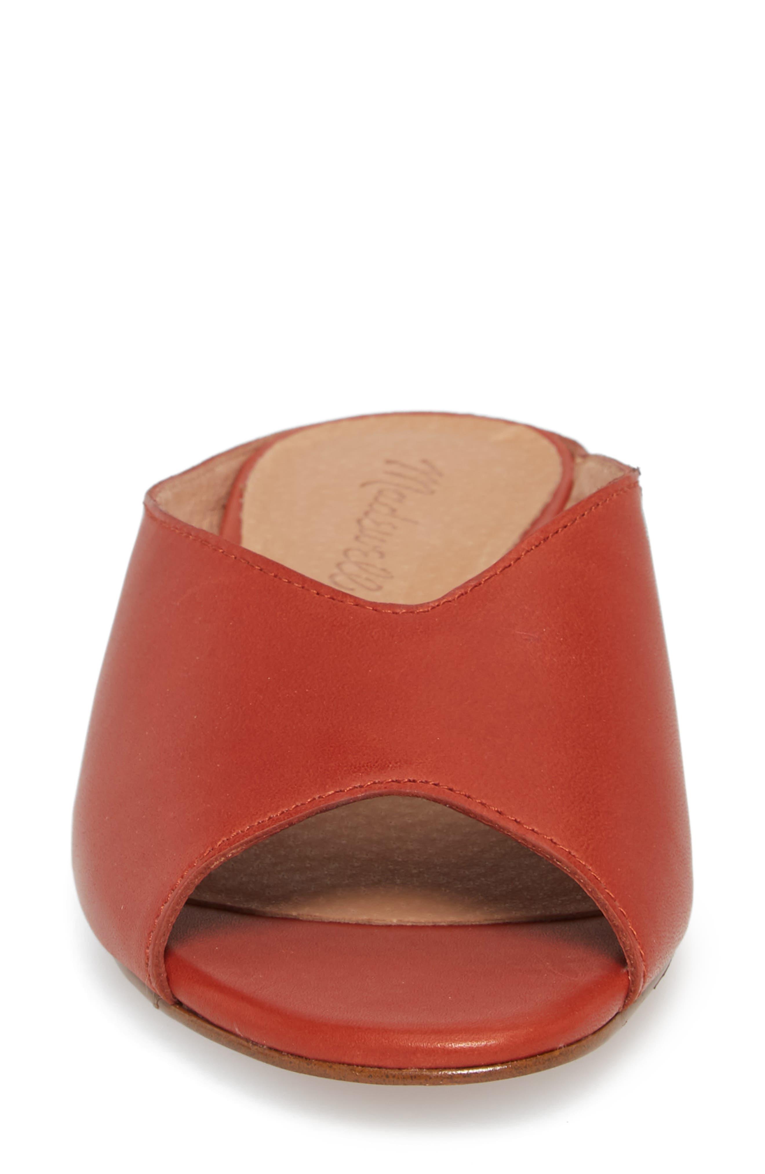Tavi Slide Sandal,                             Alternate thumbnail 4, color,                             Dark Cinnabar Leather