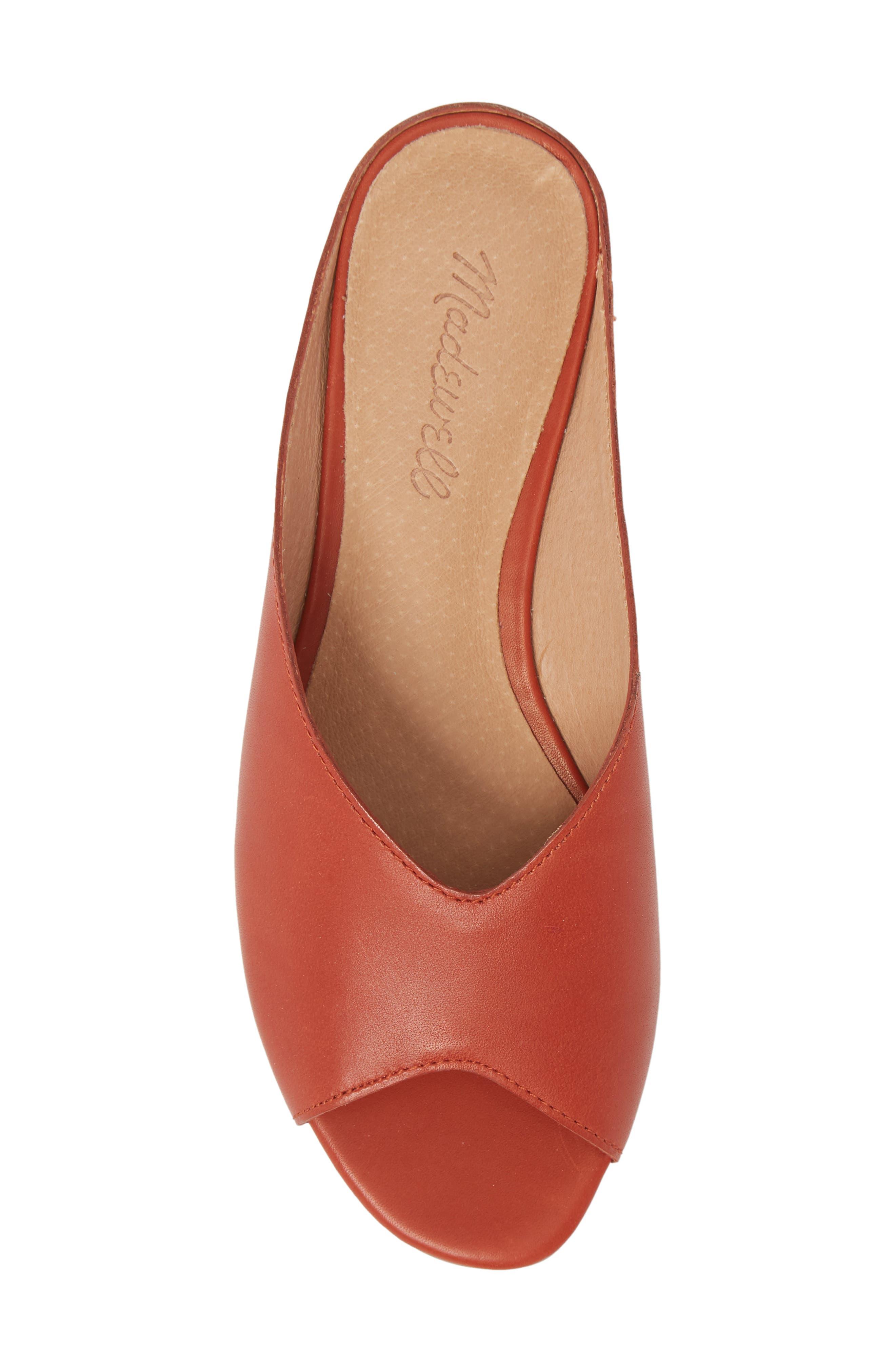 Tavi Slide Sandal,                             Alternate thumbnail 5, color,                             Dark Cinnabar Leather