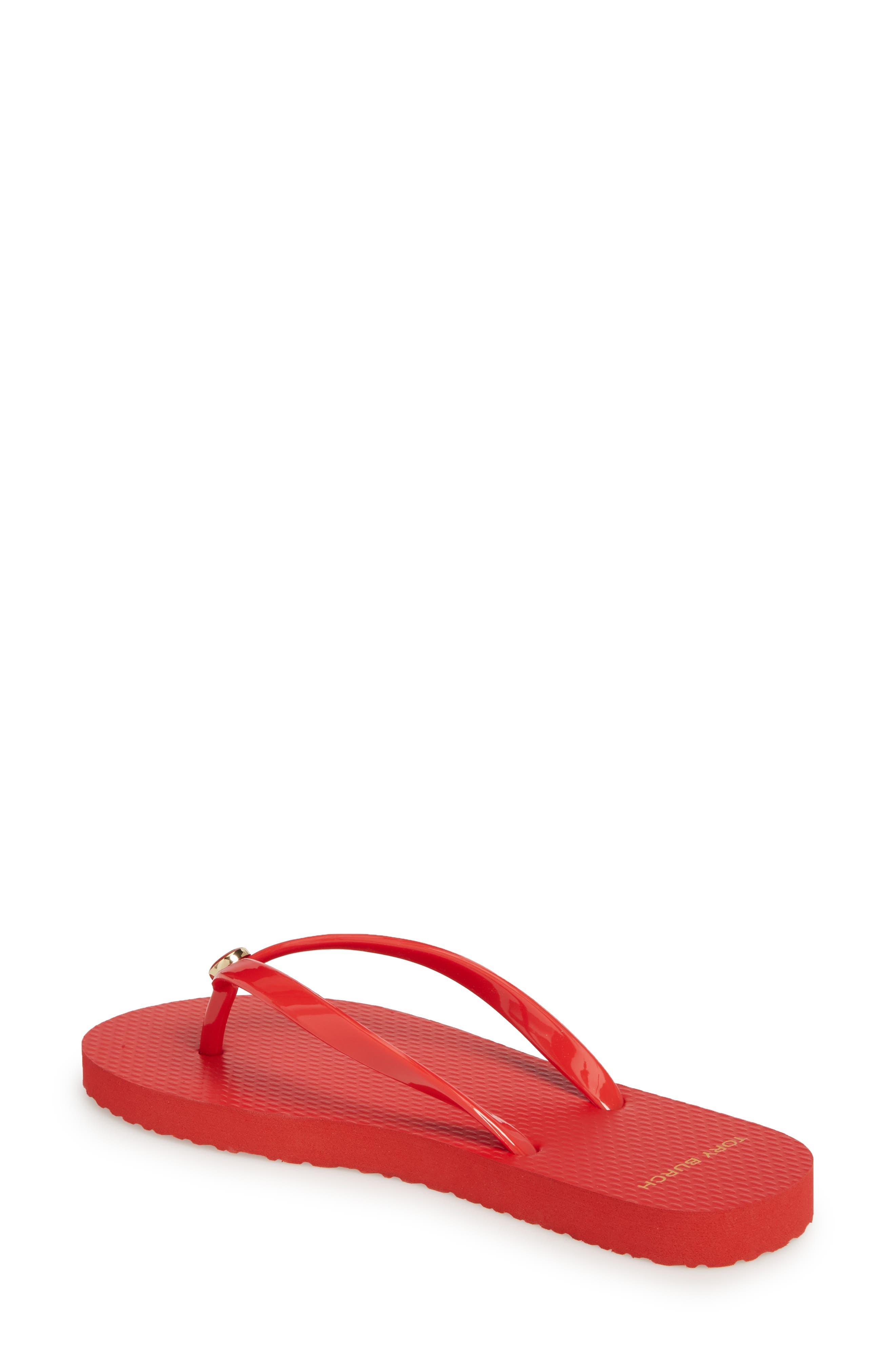 Logo Flip Flop,                             Alternate thumbnail 2, color,                             Brilliant Red