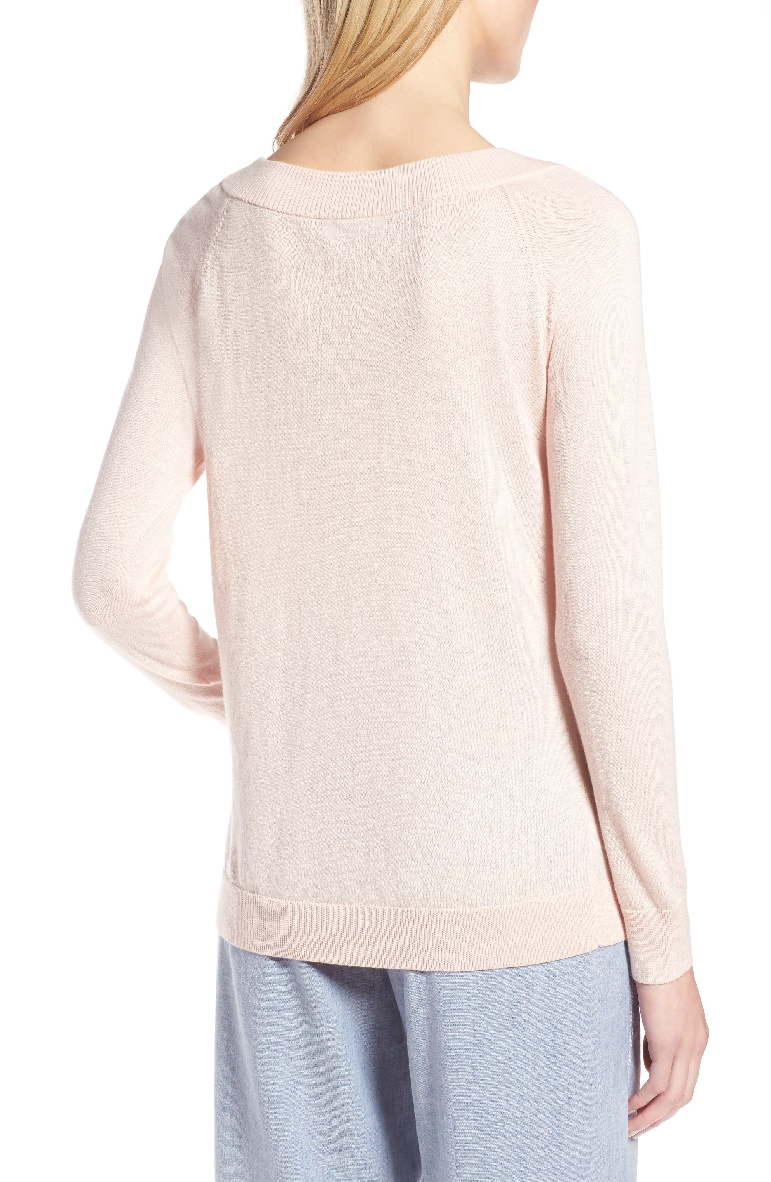 Convertible Bateau Neck Sweater,                             Alternate thumbnail 2, color,                             Pink Peach