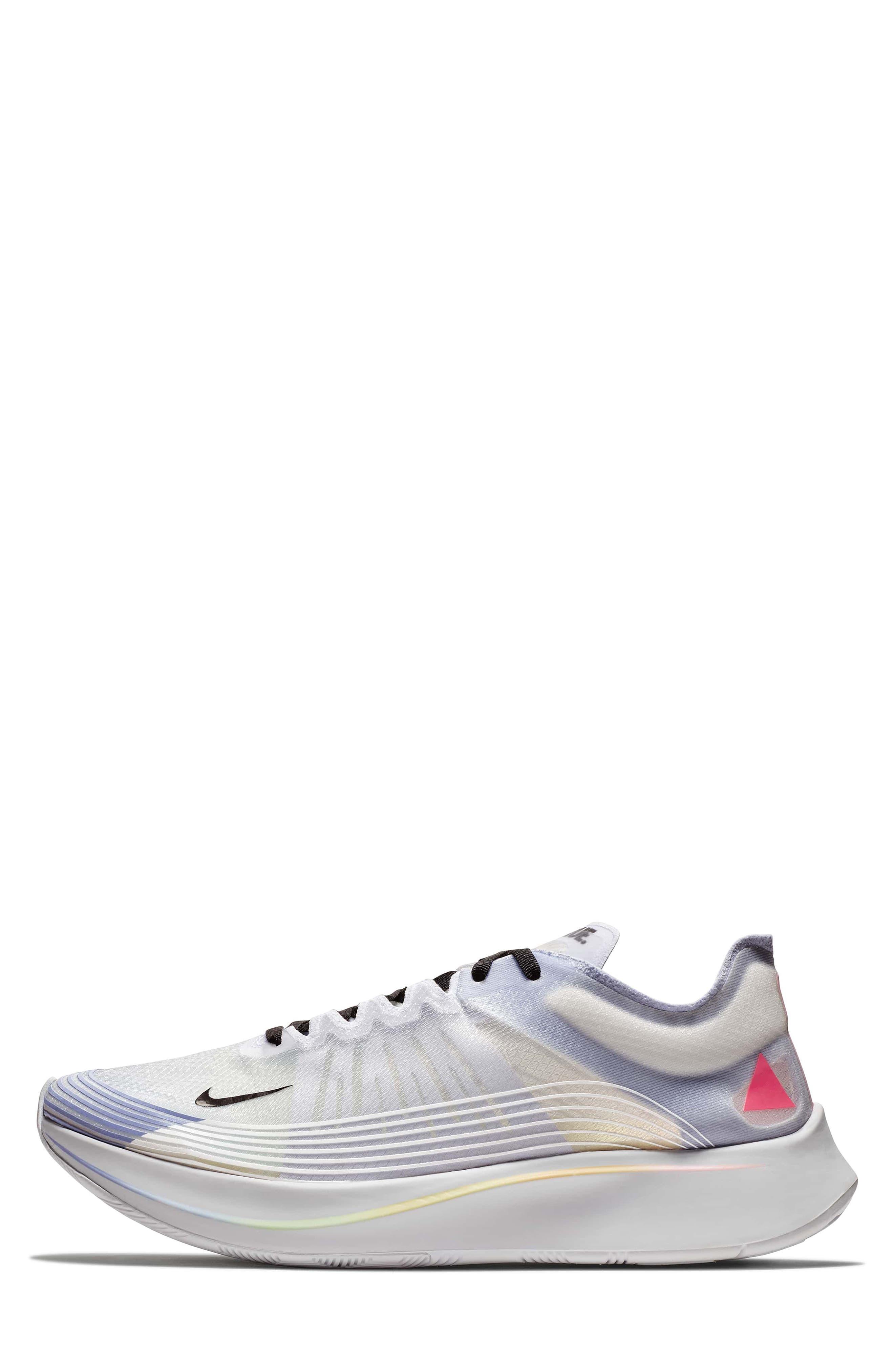 Nordstrom x Nike Zoom Fly BETRUE Running Shoe,                             Alternate thumbnail 3, color,                             White/ Black/ Palest Purple