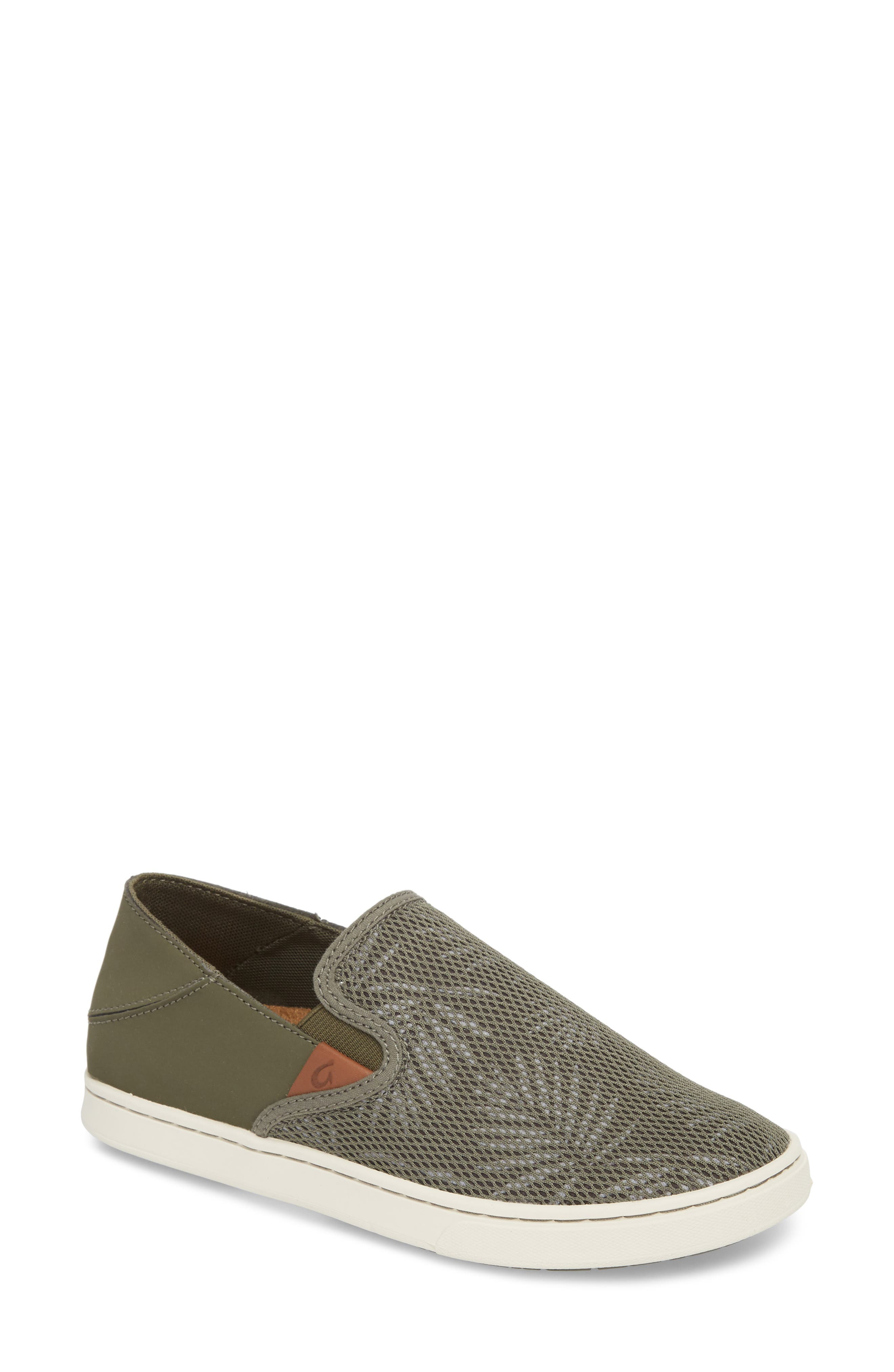 'Pehuea' Slip-On Sneaker,                             Main thumbnail 1, color,                             Dusty Olive/ Palm Fabric