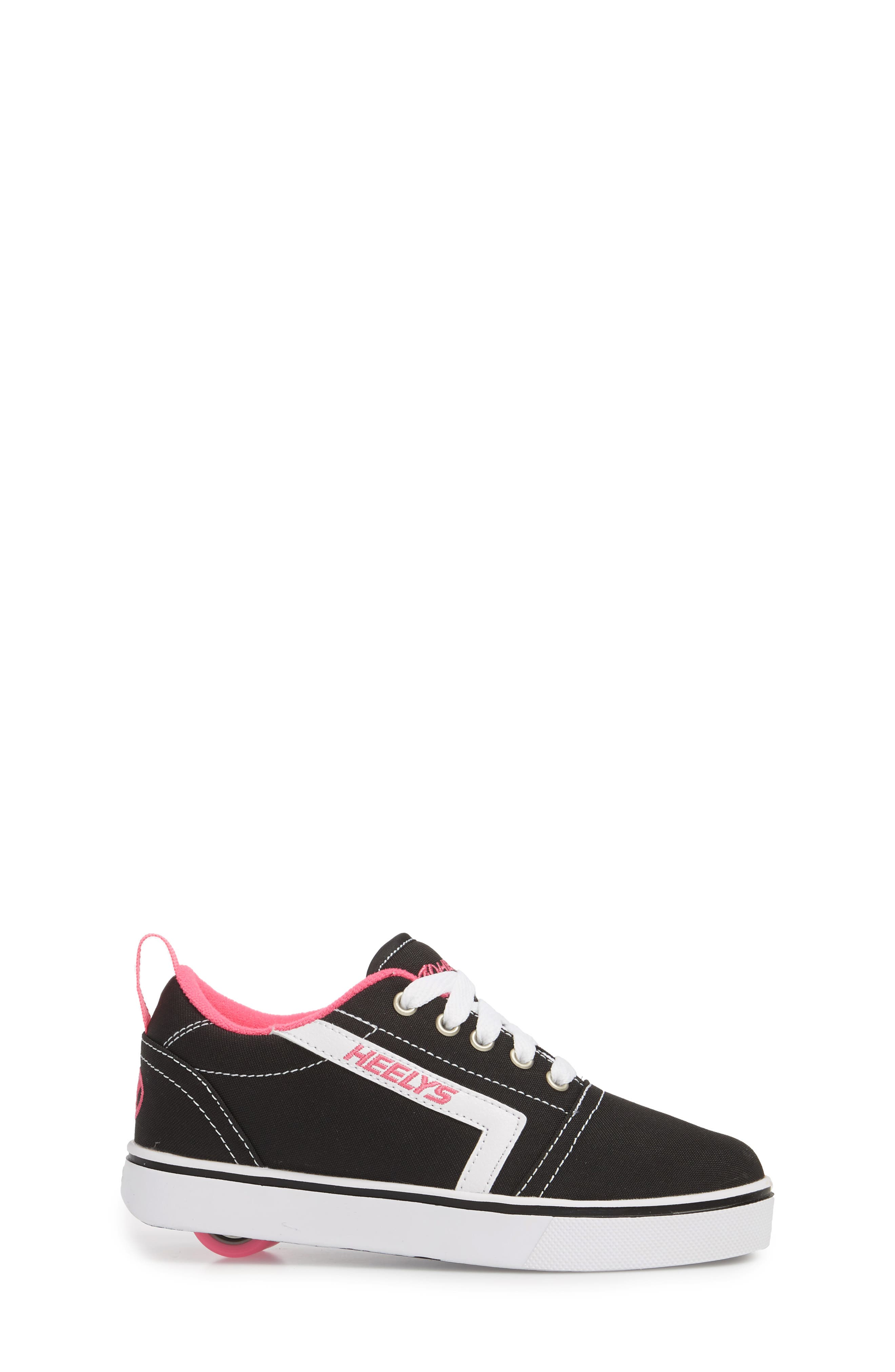 GR8 Pro Wheeled Sneaker,                             Alternate thumbnail 3, color,                             Black/ White/ Hot Pink