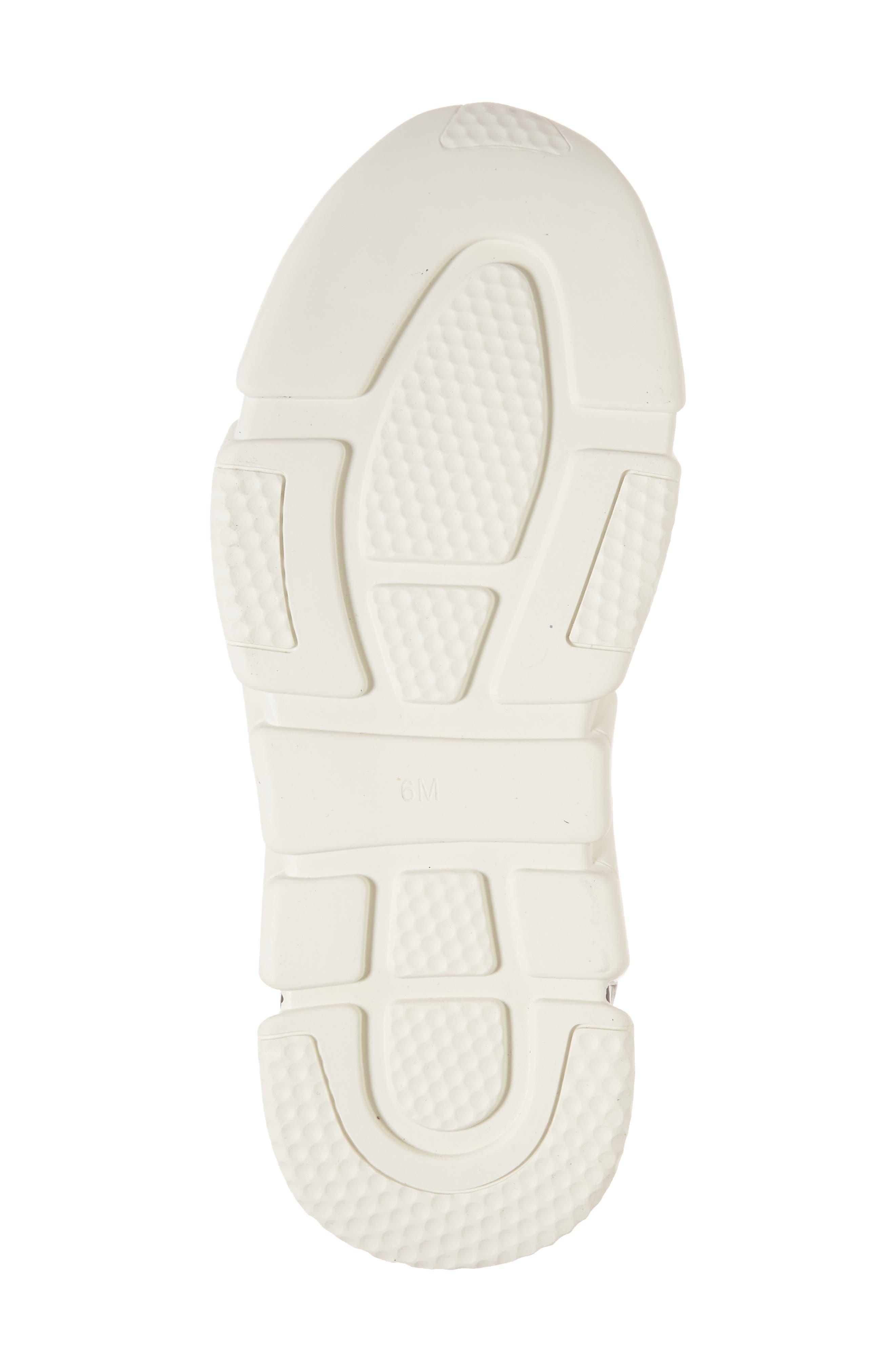 Sock Sneaker,                             Alternate thumbnail 6, color,                             Black / White