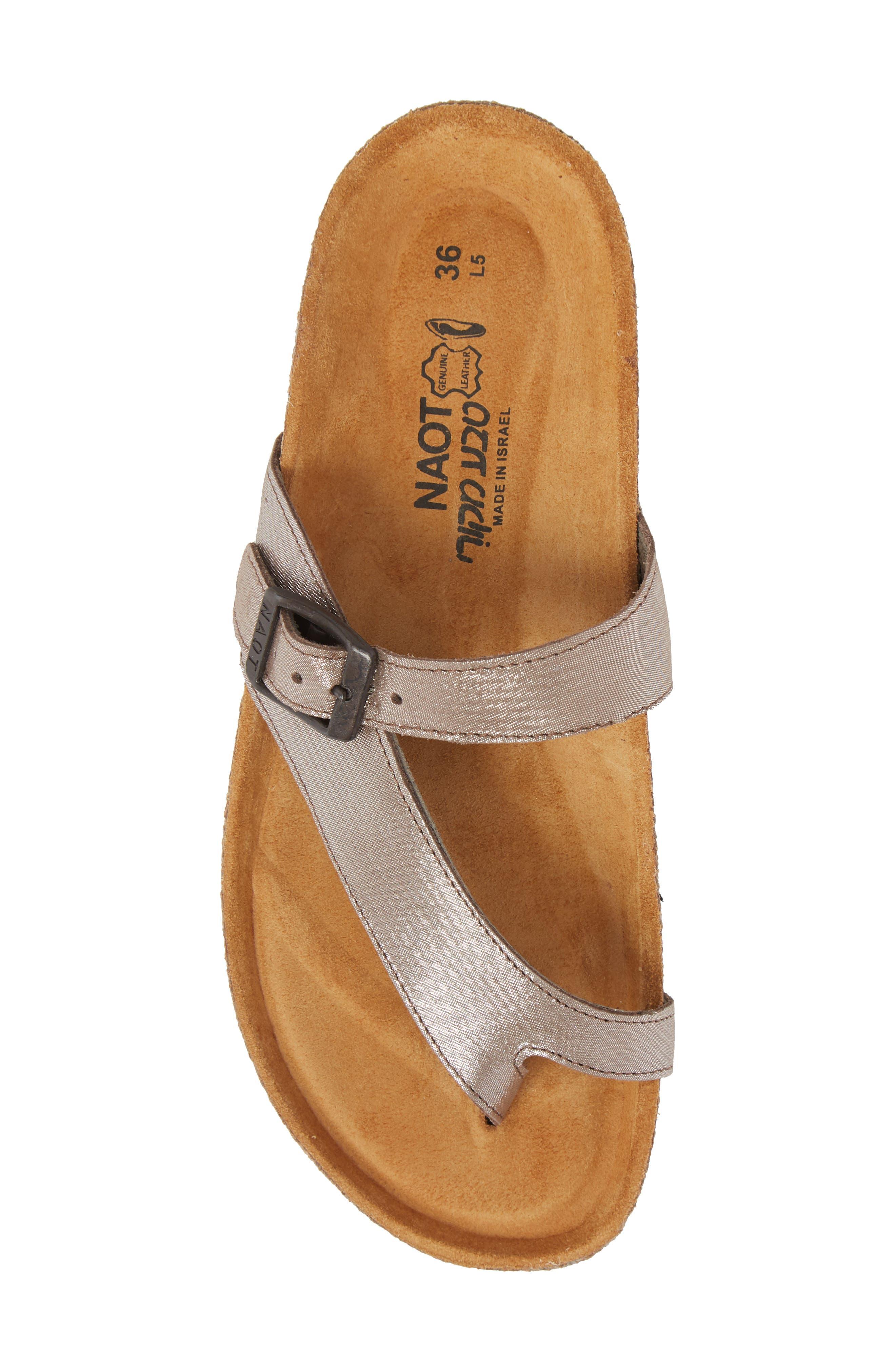 'Tahoe' Sandal,                             Alternate thumbnail 5, color,                             Silver Leather