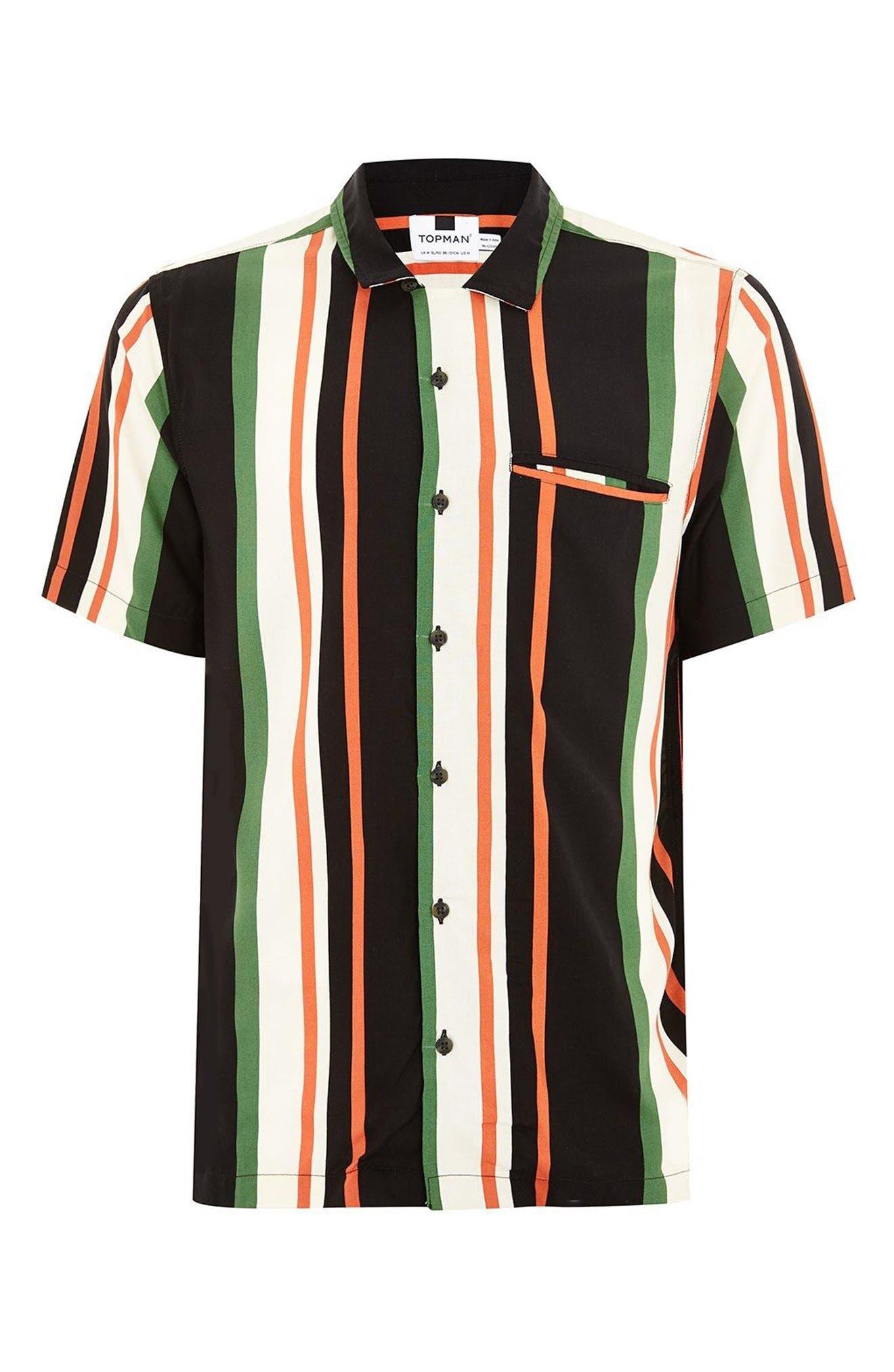 Stripe Shirt,                             Alternate thumbnail 2, color,                             White Multi