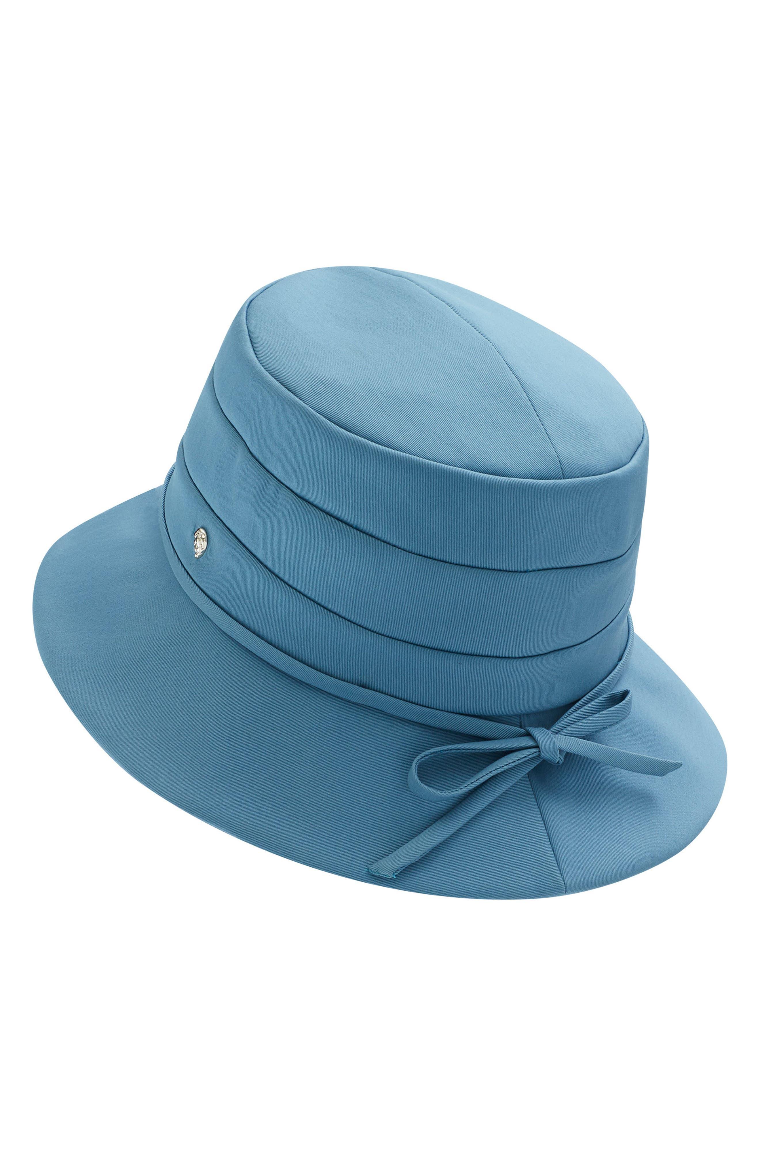 HELEN KAMINSKI MEDIUM BRIM WATER-RESISTANT HAT - BLUE
