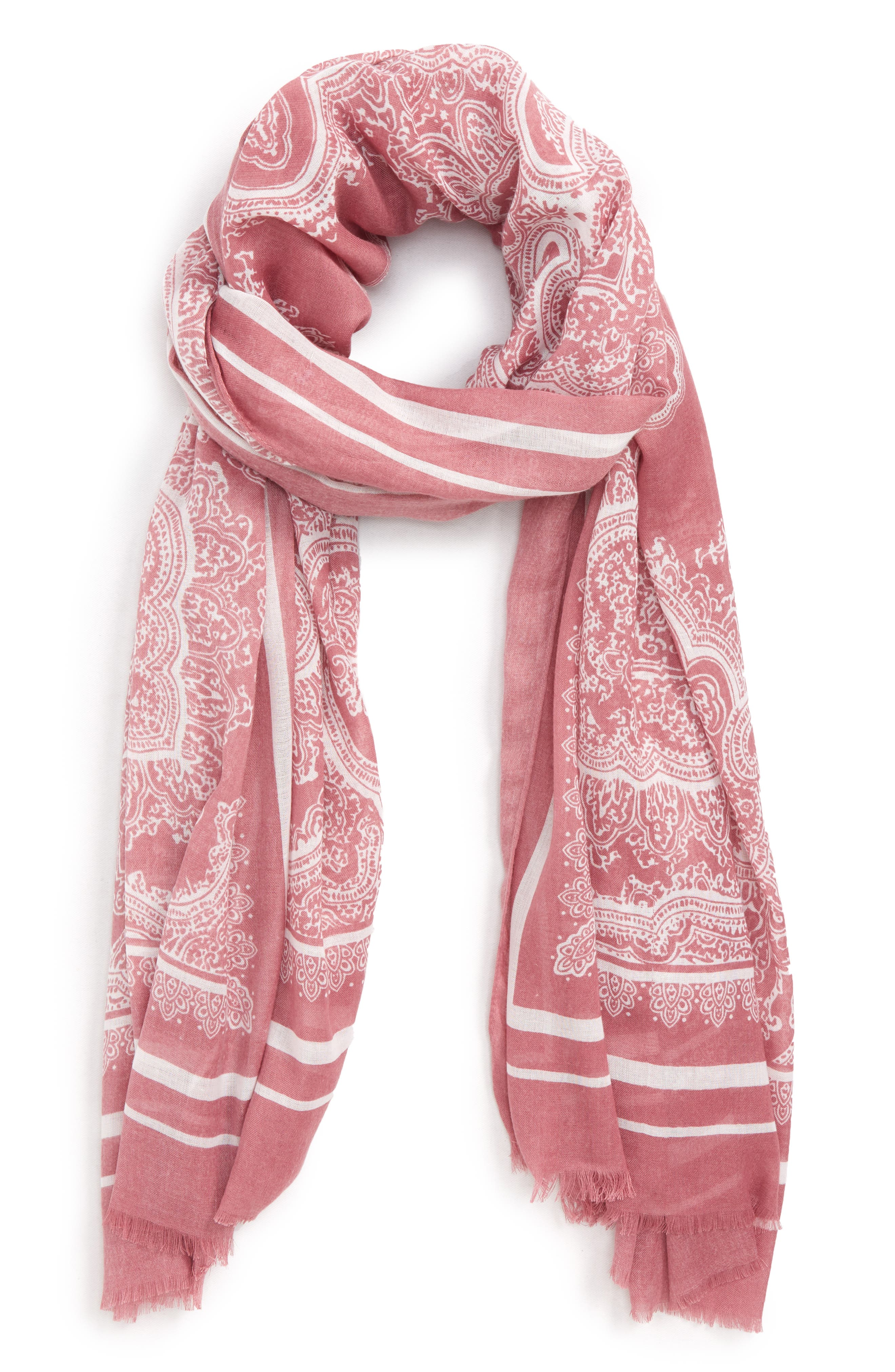 Paisley Scarf,                         Main,                         color, Orchid