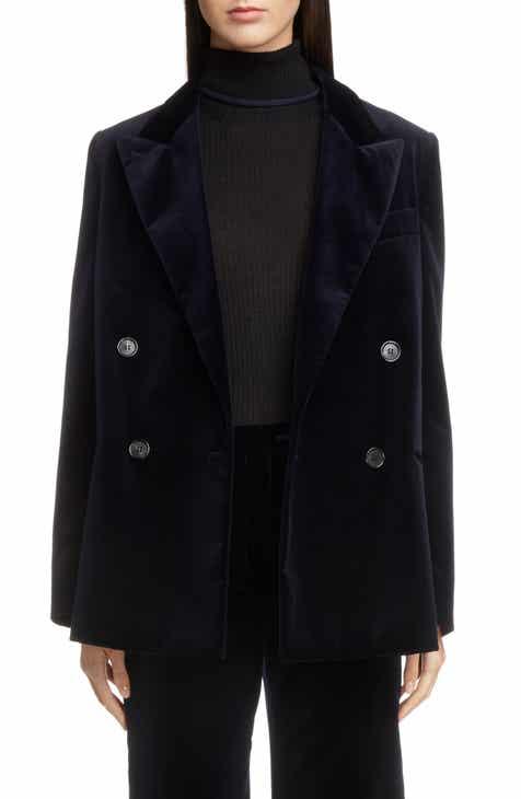 Acne Studios Double Breasted Velvet Jacket