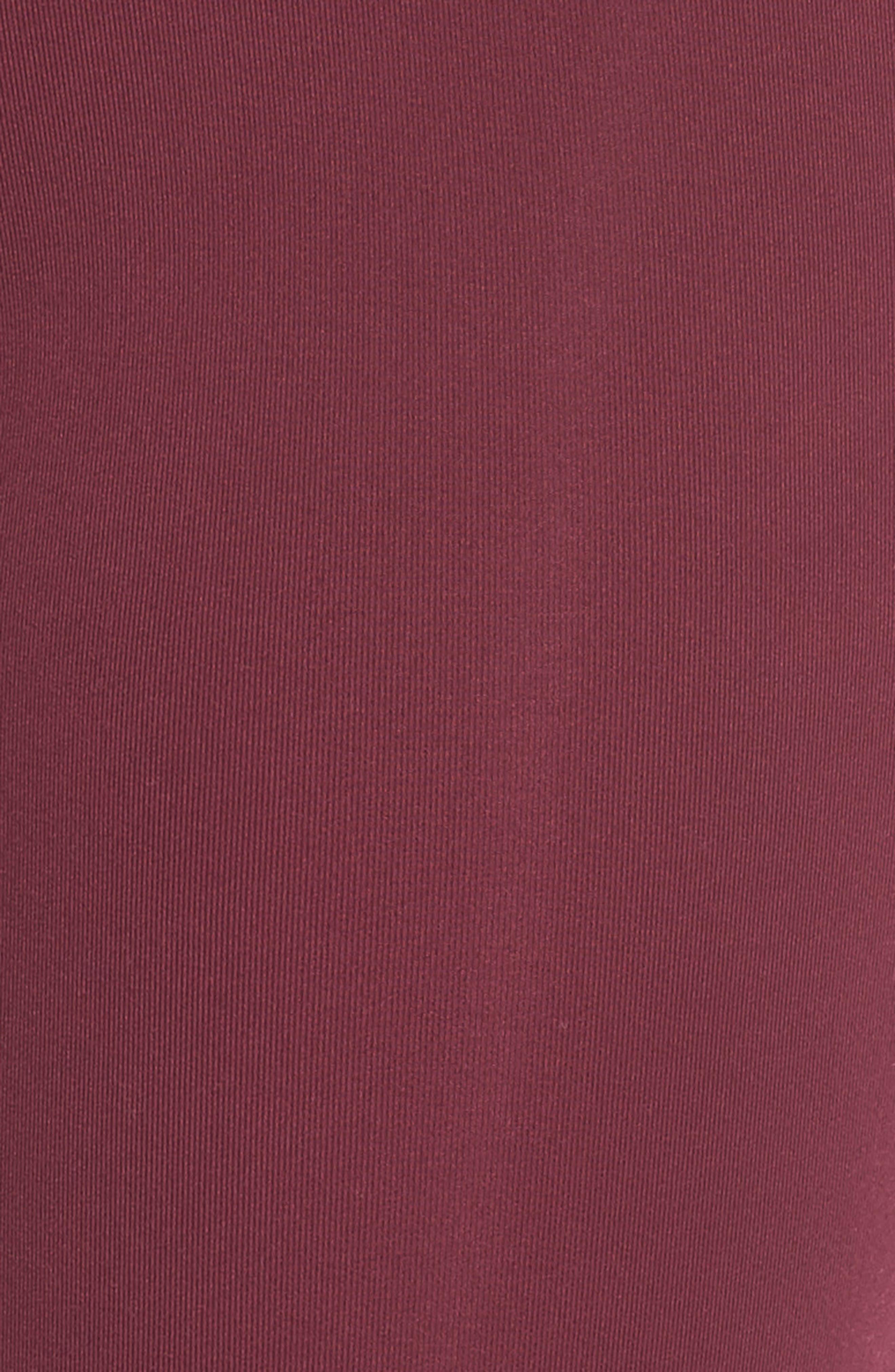 Infinity Cutout Crop Leggings,                             Alternate thumbnail 6, color,                             Wine