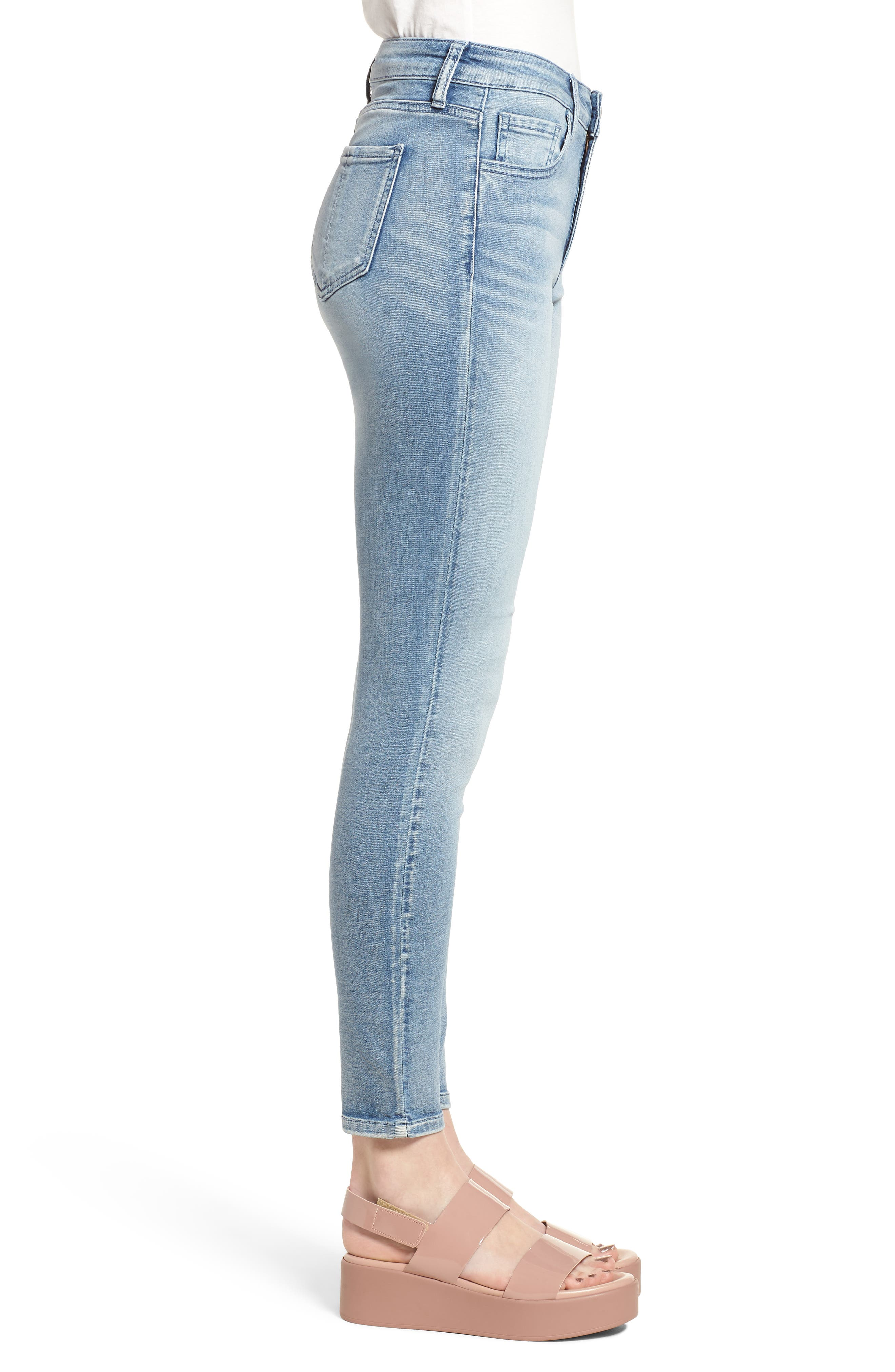 Ankle Skinny Jeans,                             Alternate thumbnail 6, color,                             Justice