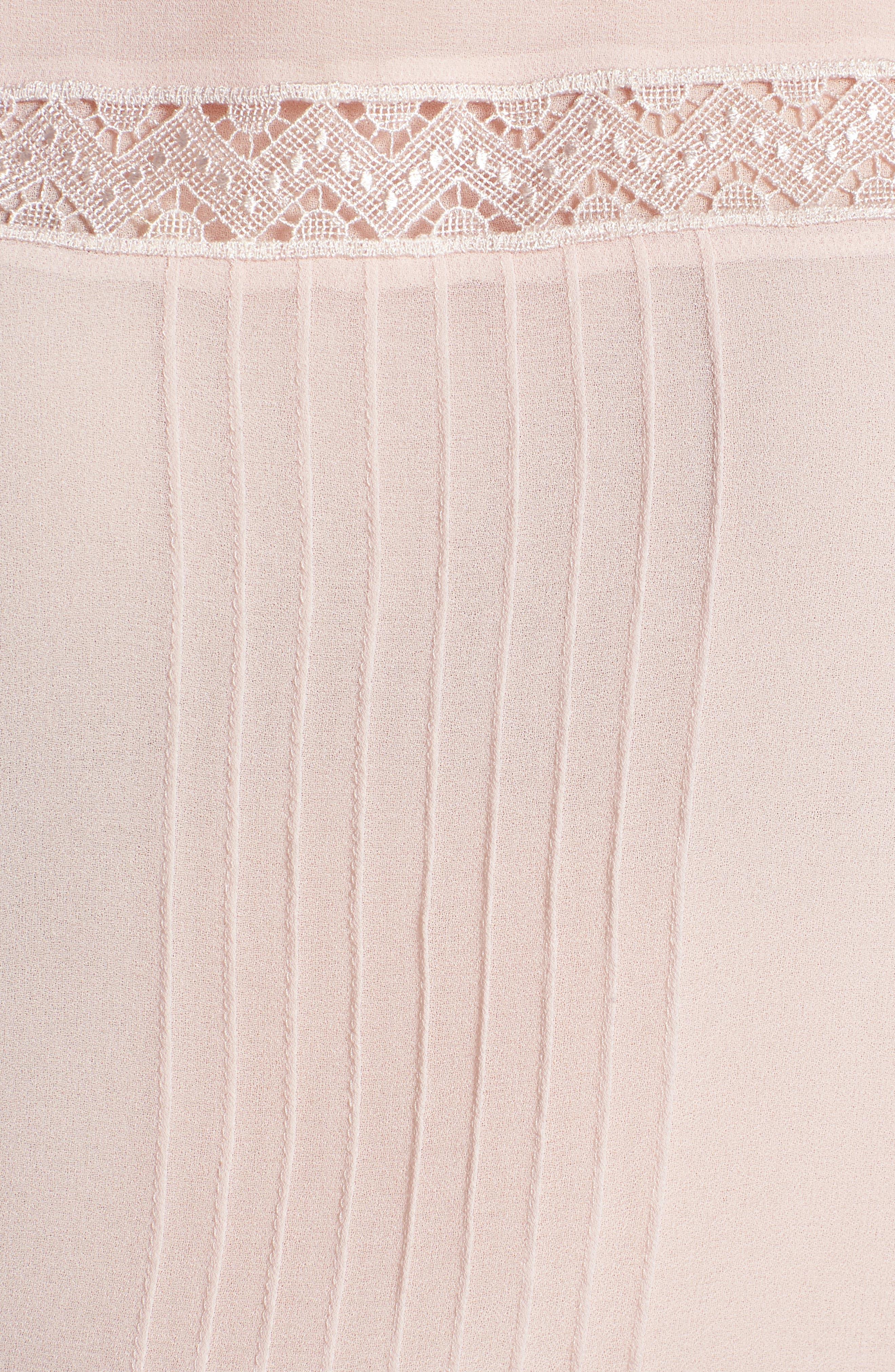 Pintuck & Lace Top,                             Alternate thumbnail 6, color,                             Pink Hush