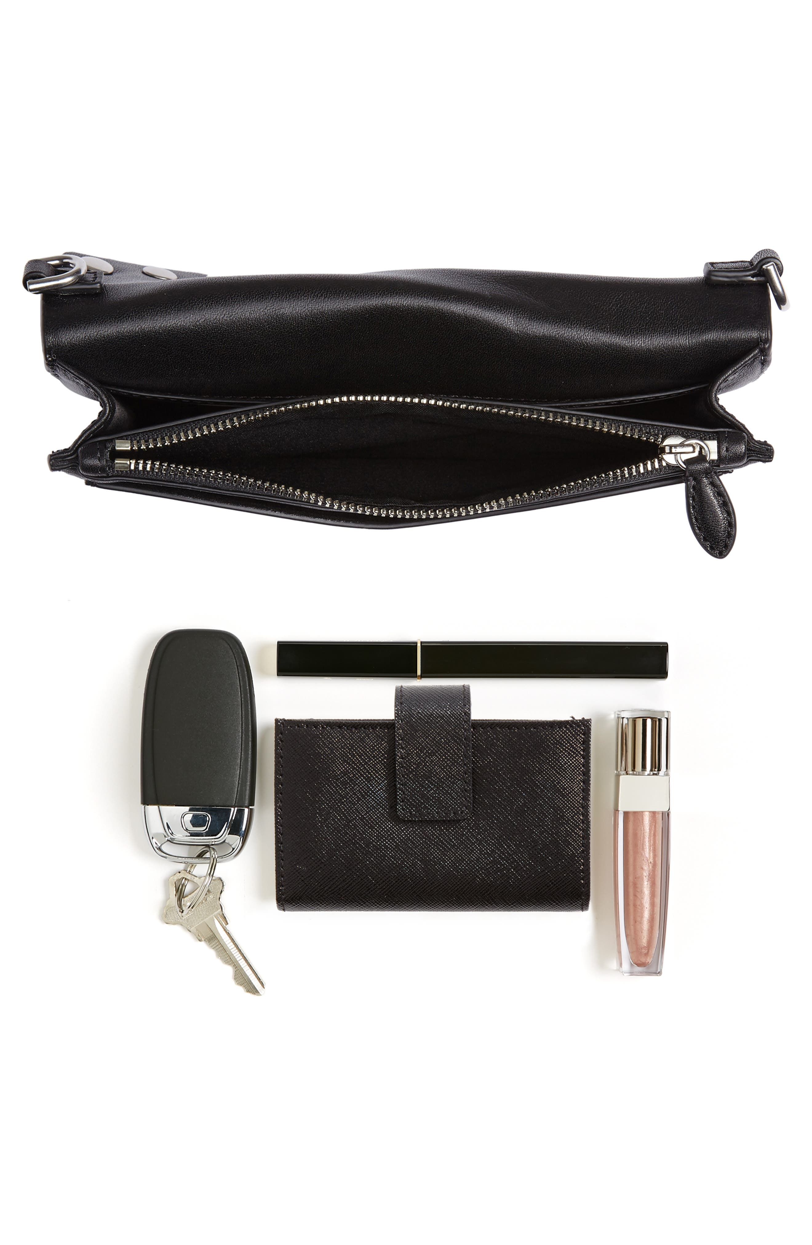 Blythe Studded Leather Crossbody Wallet,                             Alternate thumbnail 7, color,