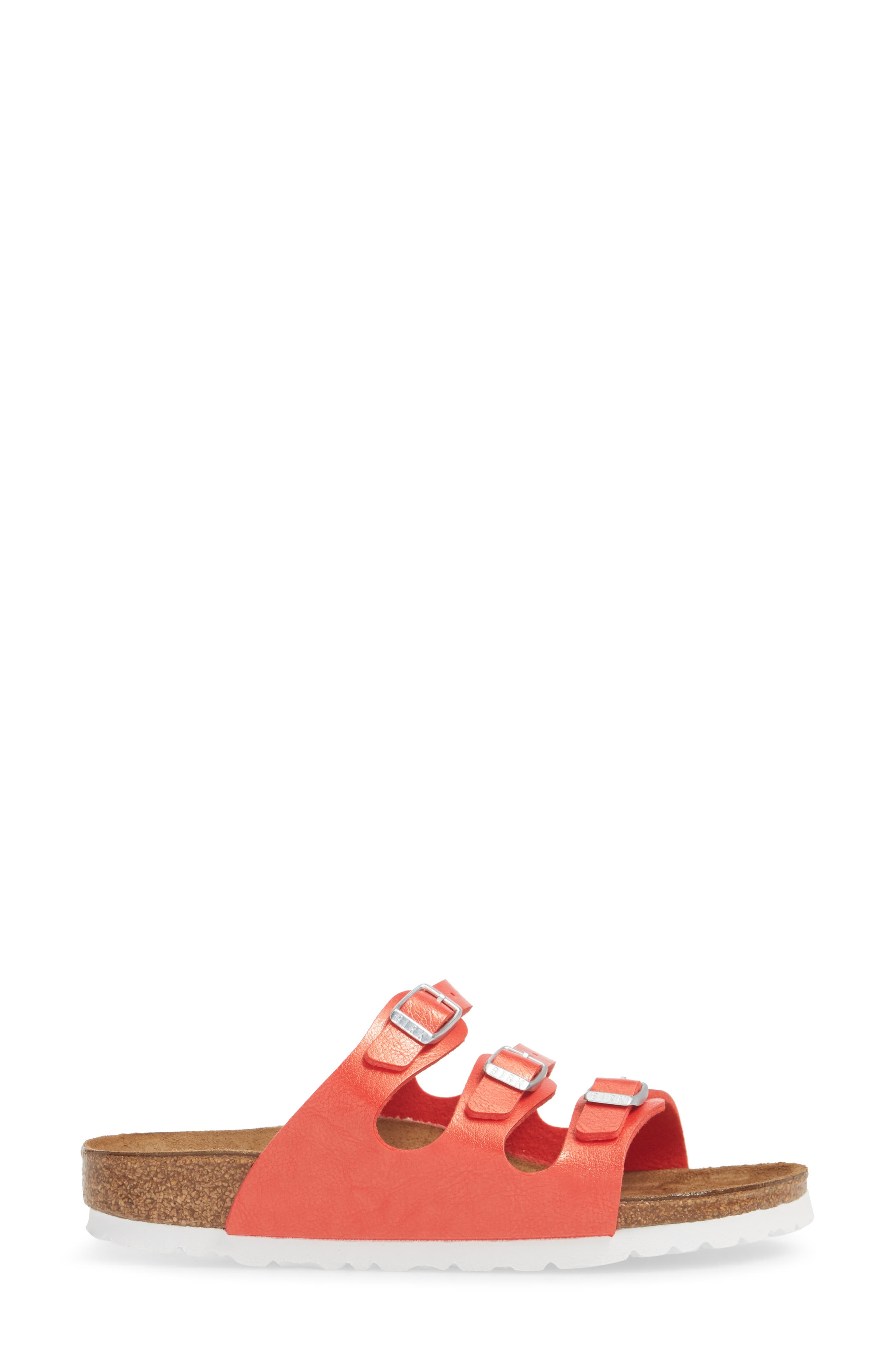 'Florida' Soft Footbed Sandal,                             Alternate thumbnail 3, color,                             Graceful Hibiscus Leather