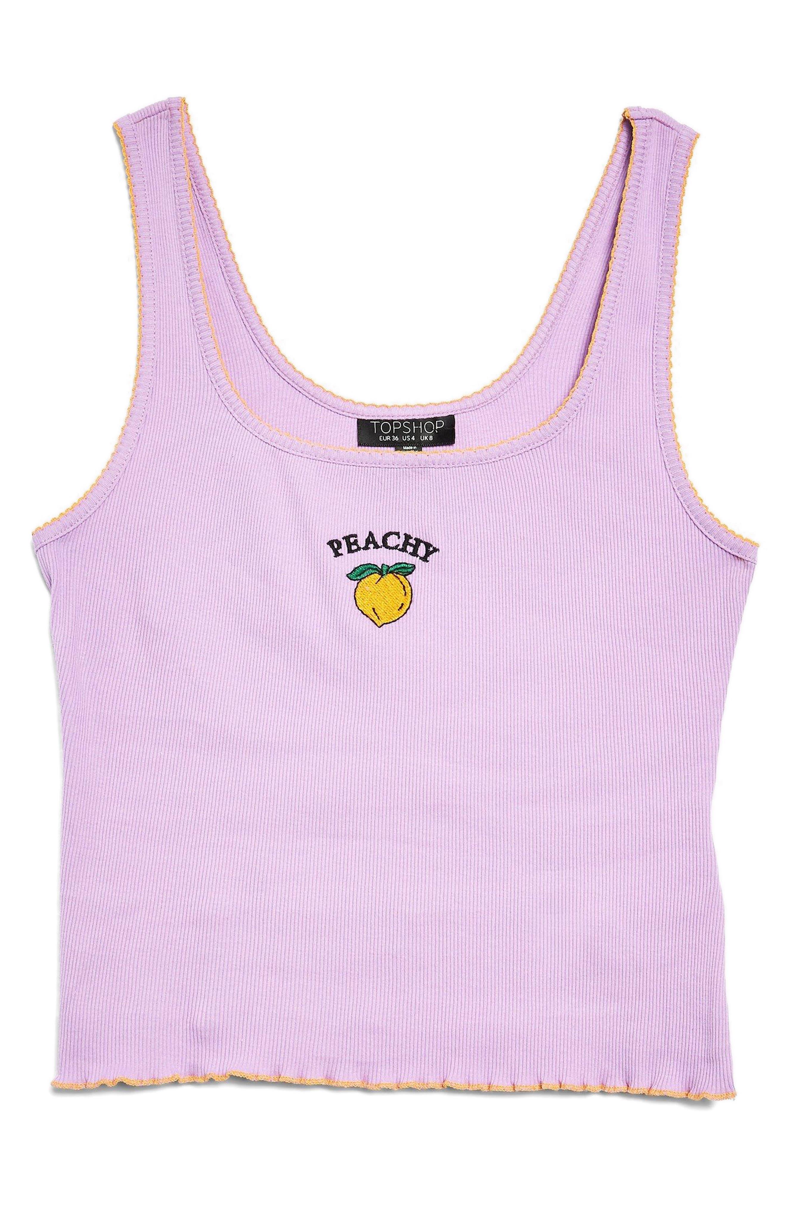Peachy Slogan Tank Top,                             Main thumbnail 1, color,                             Lilac
