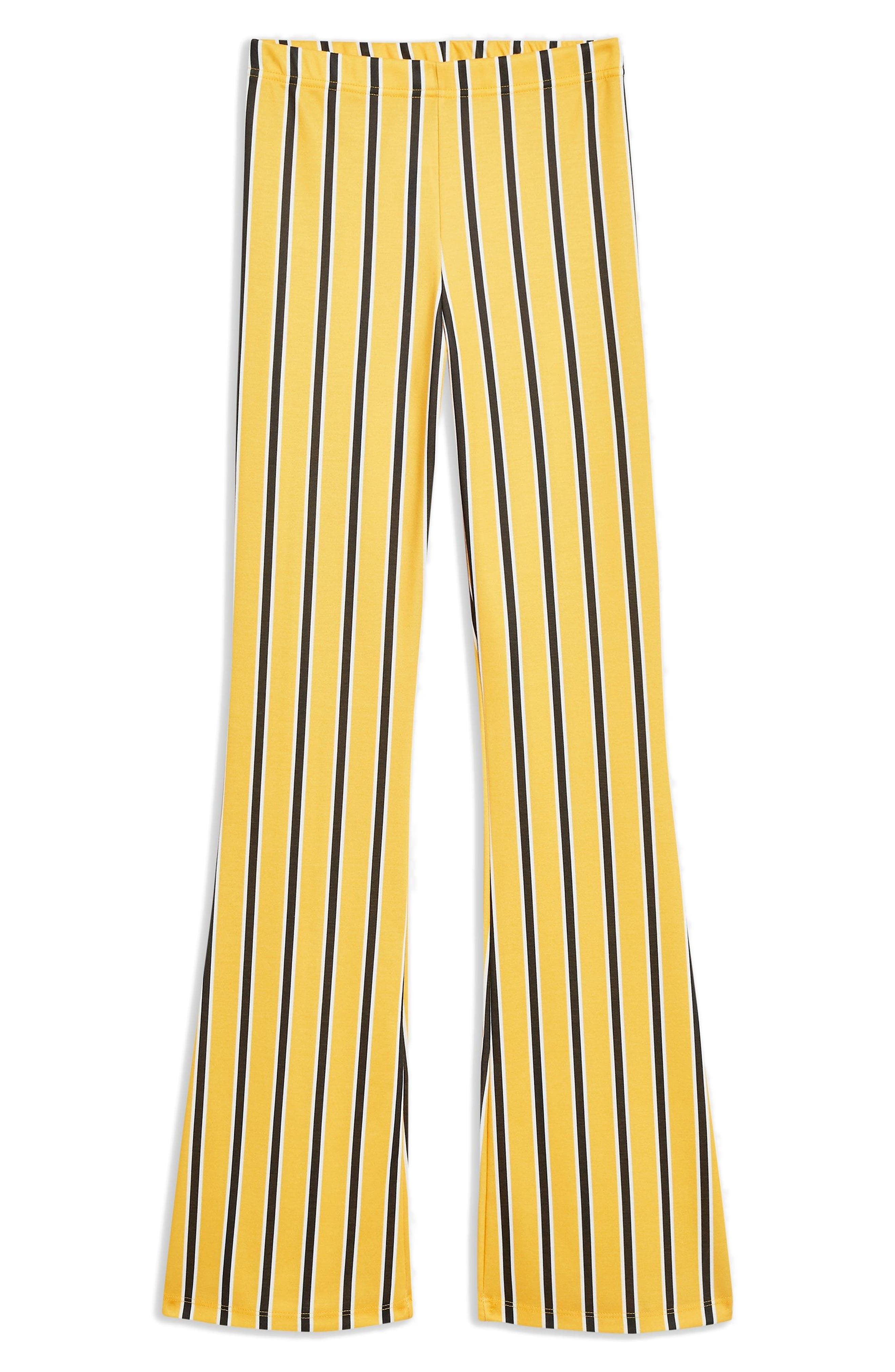 Stripe Flare Trousers,                             Main thumbnail 1, color,                             Yellow Multi