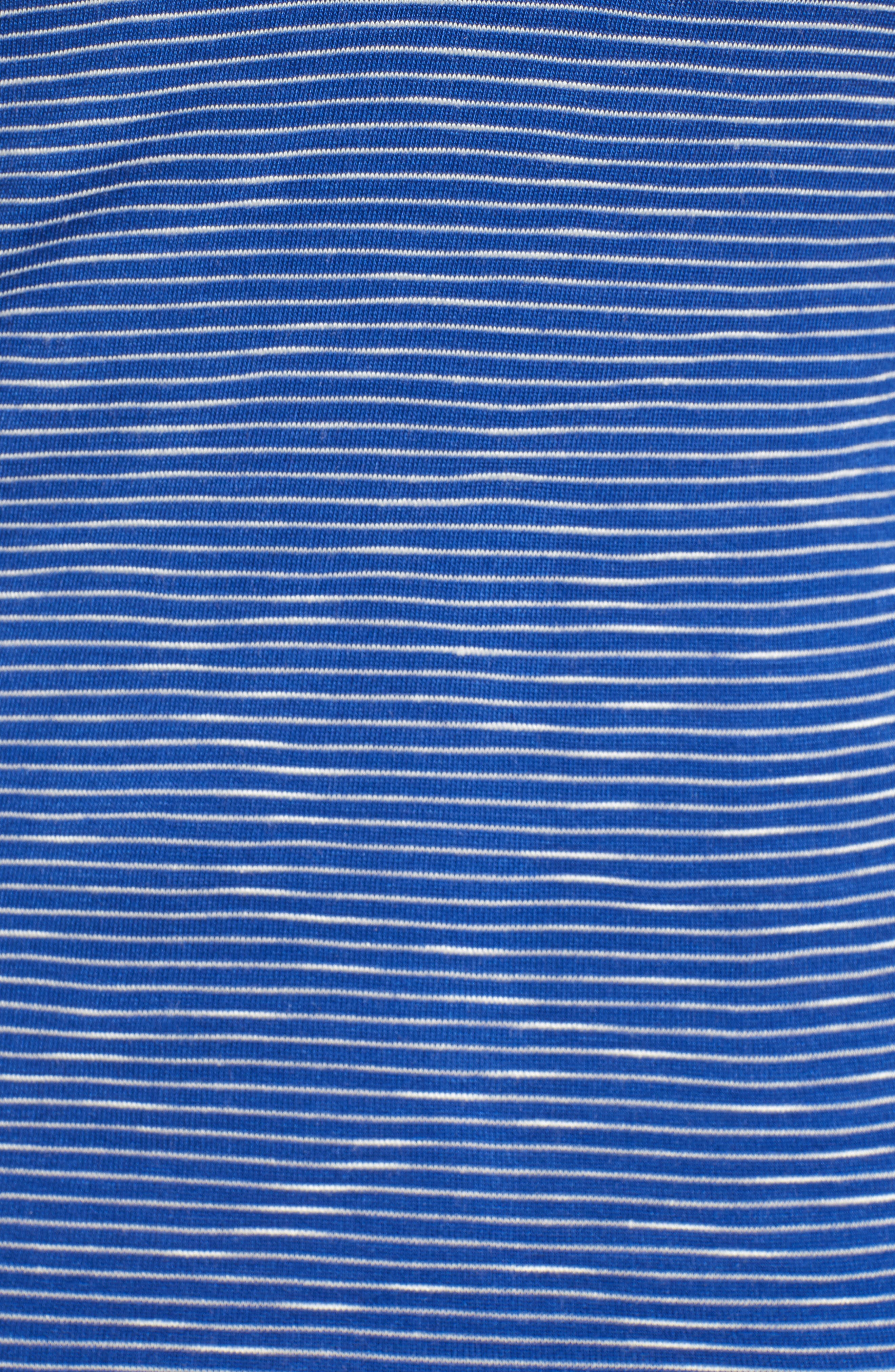 Stripe Tube Top,                             Alternate thumbnail 4, color,                             Cobalt Oat