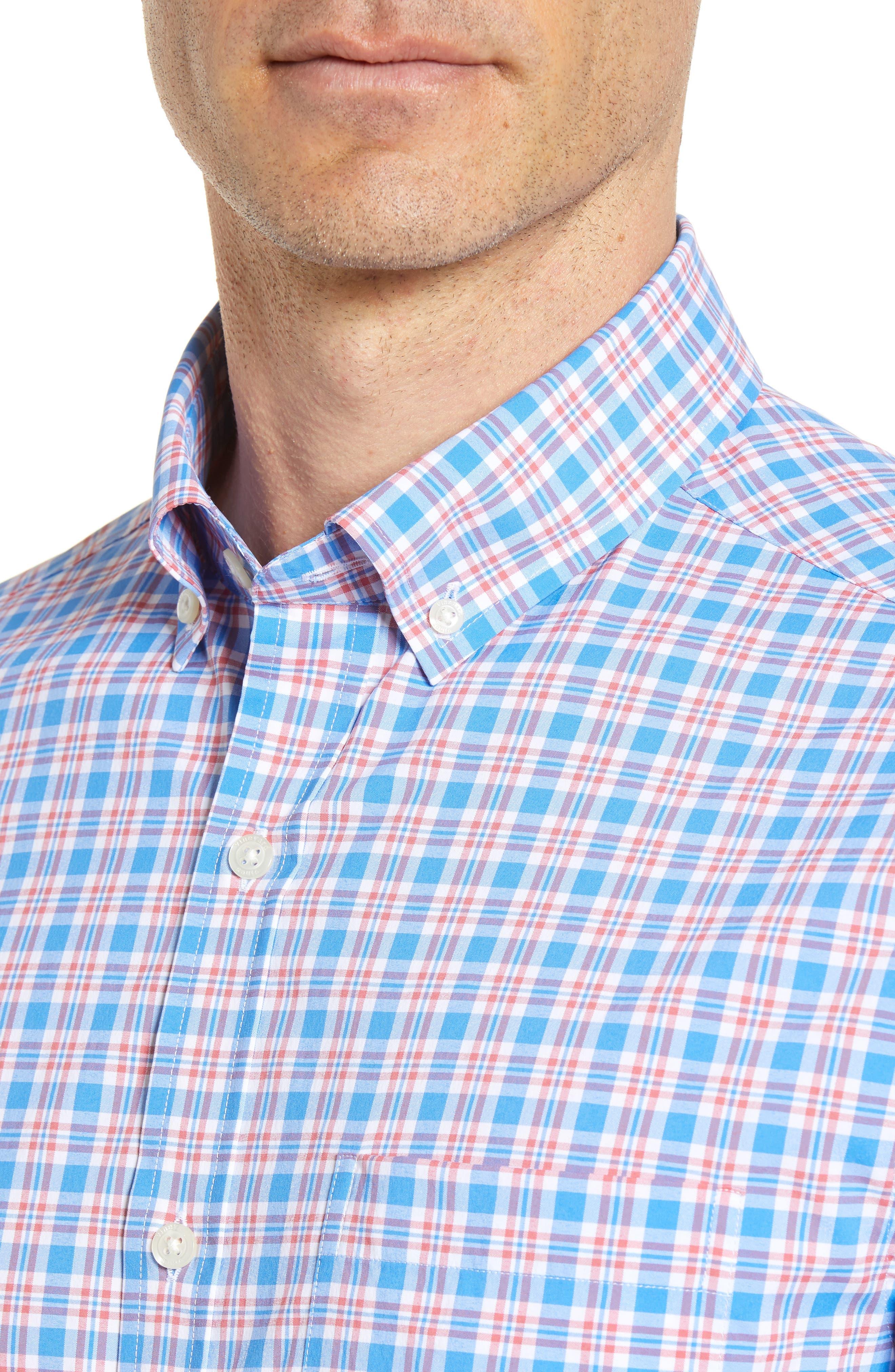Lighthouse Road Regular Fit Plaid Sport Shirt,                             Alternate thumbnail 2, color,                             Hull Blue