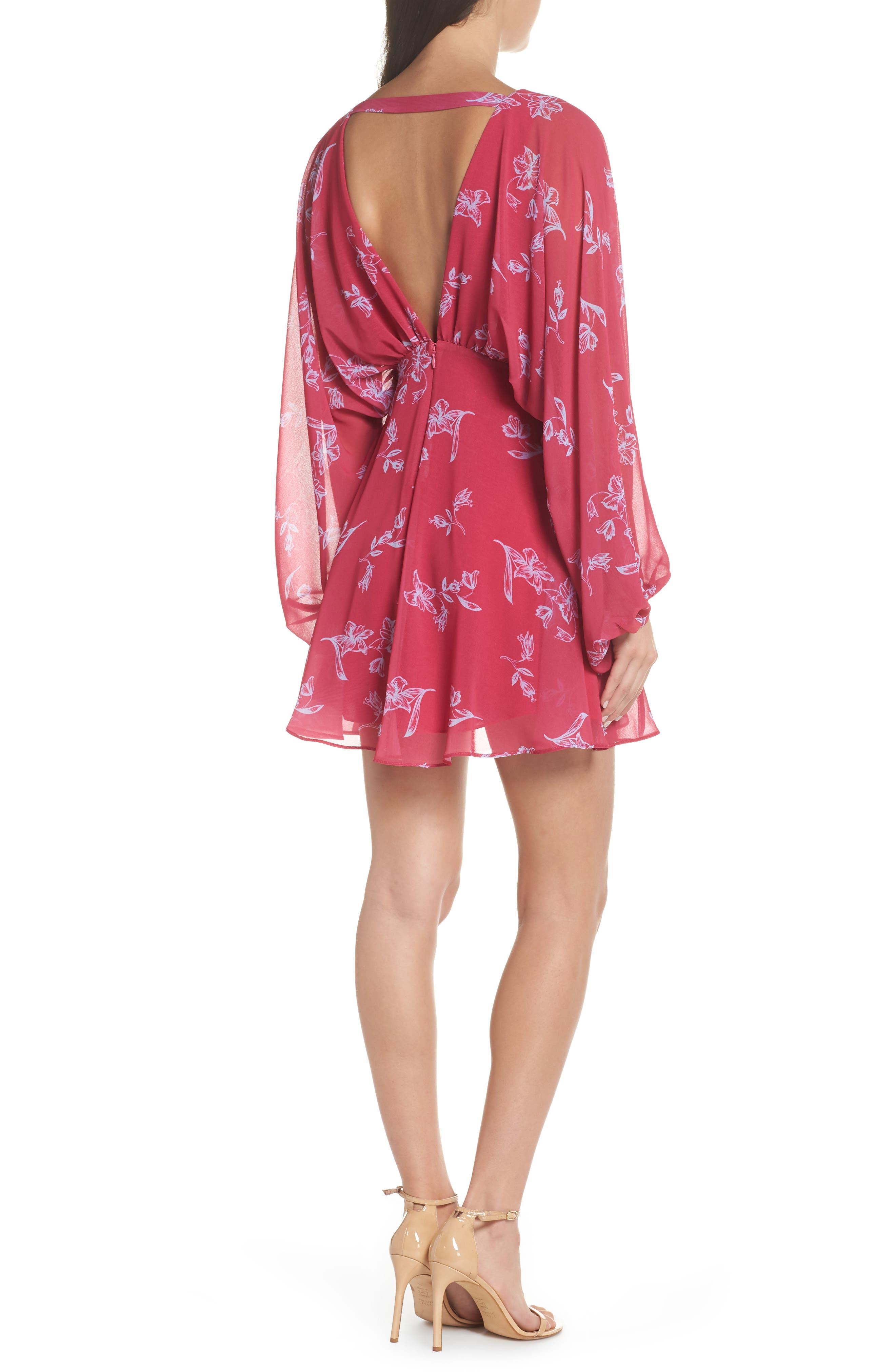 Fame & Partners The Kassidy Georgette Dress,                             Alternate thumbnail 2, color,                             Pop Sketch Floral