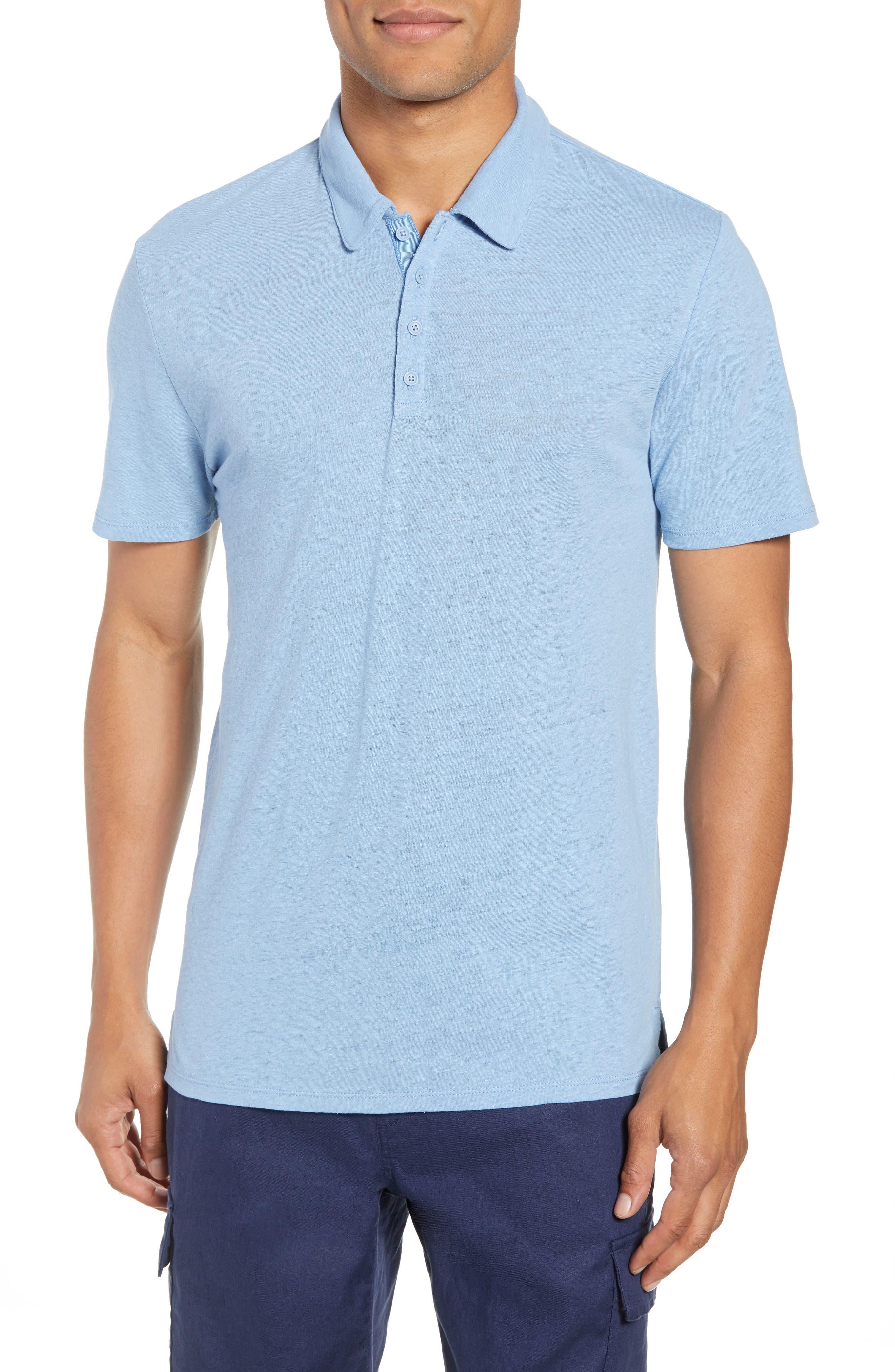 Slim Fit Polo,                         Main,                         color, Ballard Blue