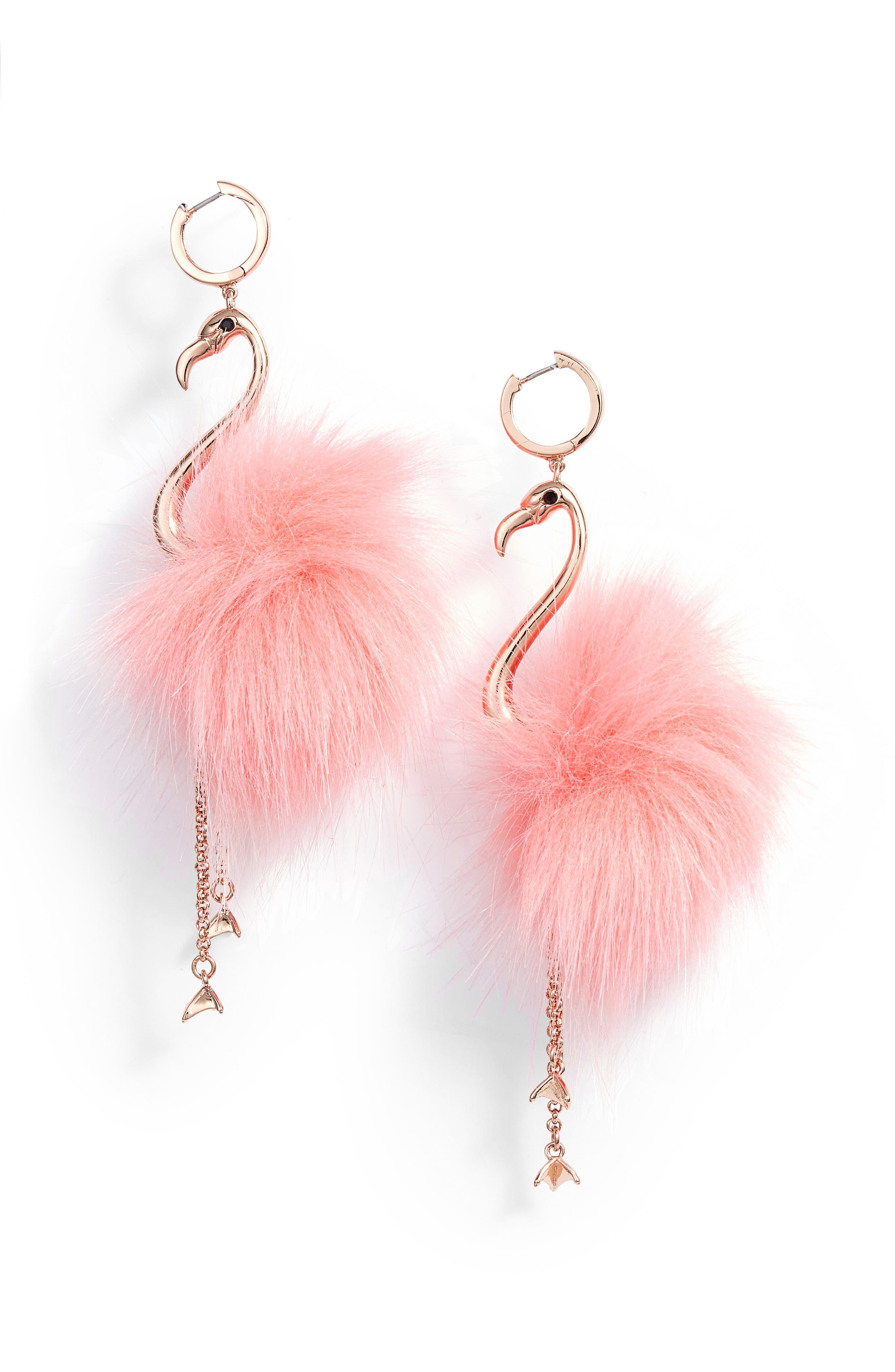 by the pool flamingo drop earrings,                             Main thumbnail 1, color,                             Multi