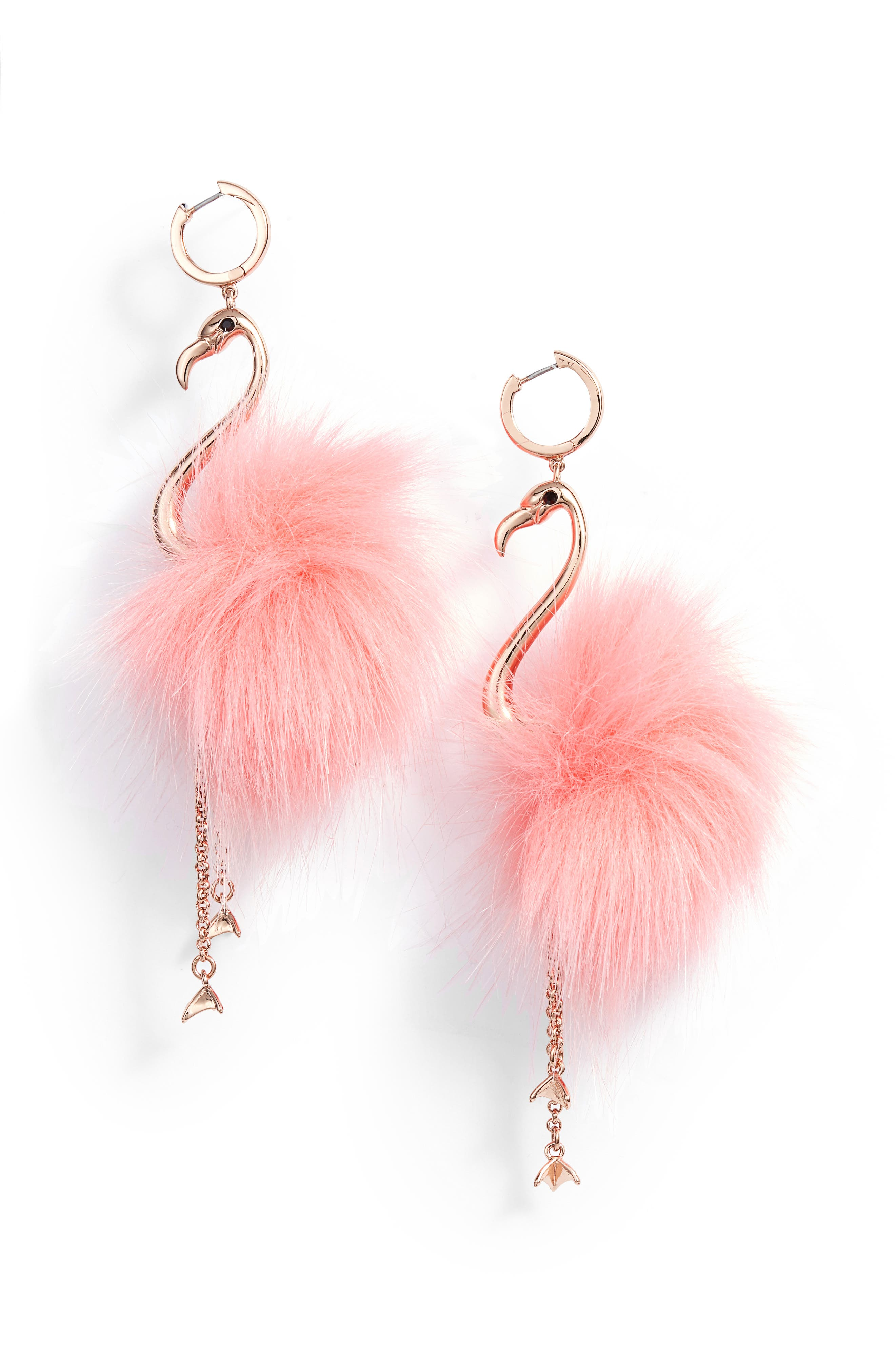 by the pool flamingo drop earrings,                         Main,                         color, Multi