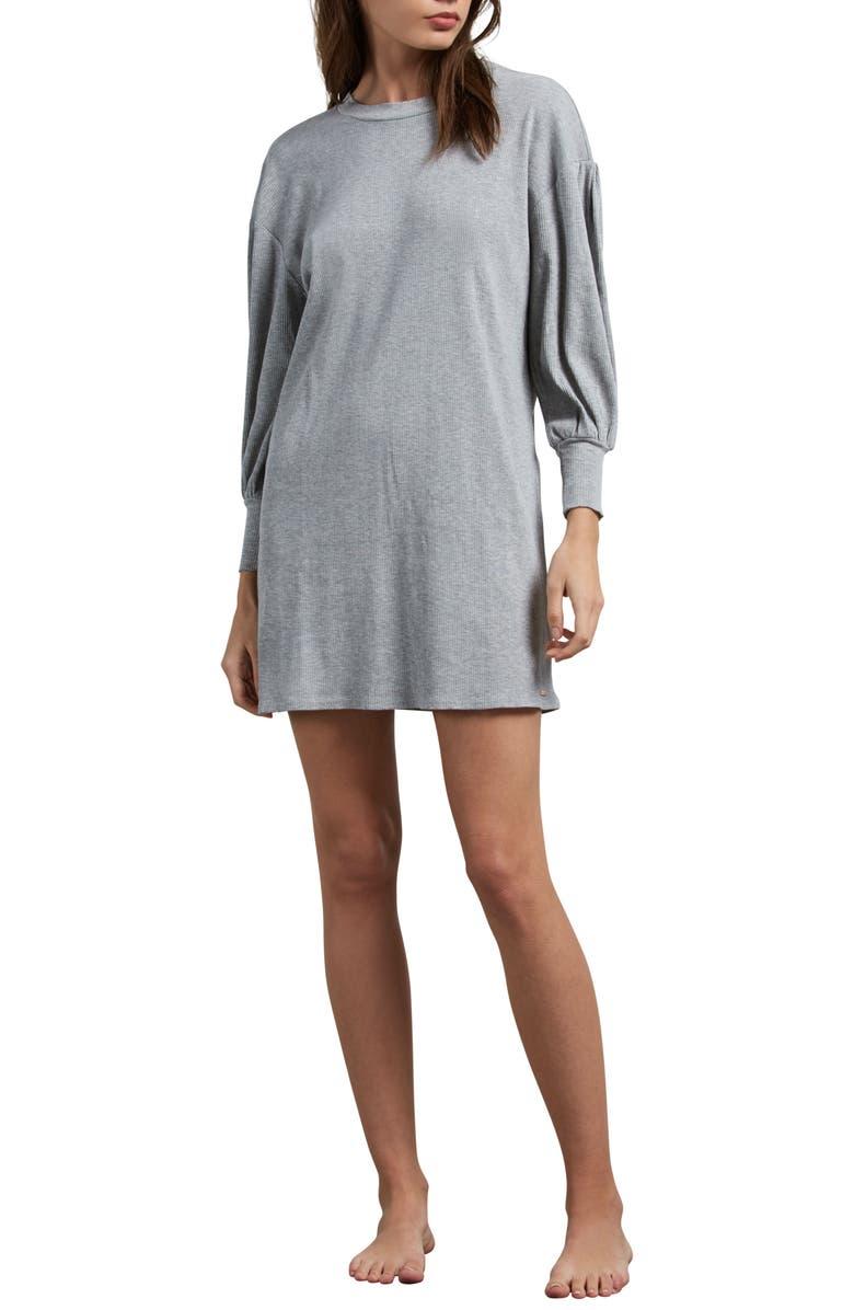 Lil T-Shirt Dress,                         Main,                         color, Heather Grey