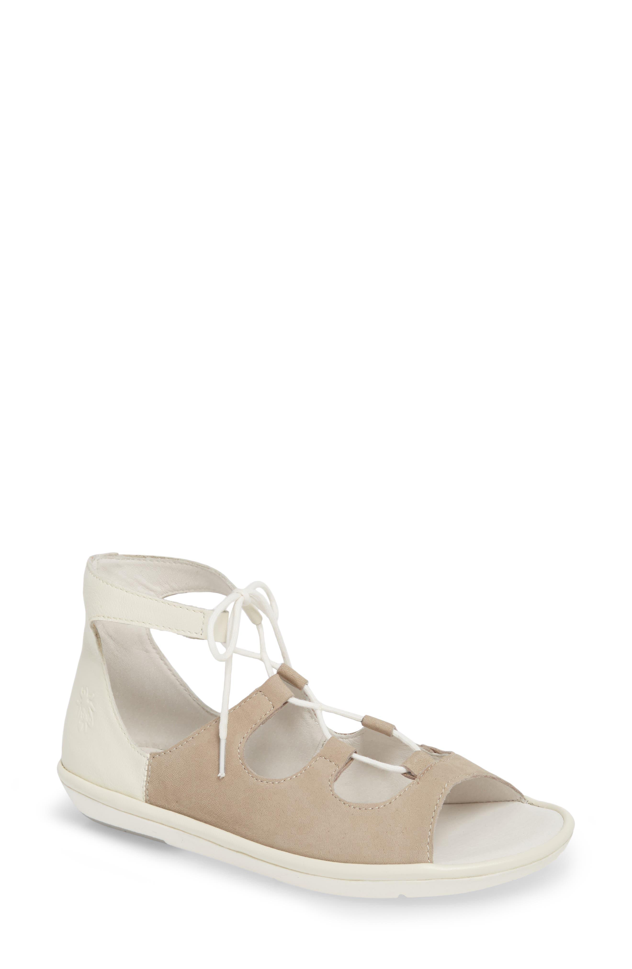 Mura Ghillie Sandal,                         Main,                         color, Cloud/ Off White